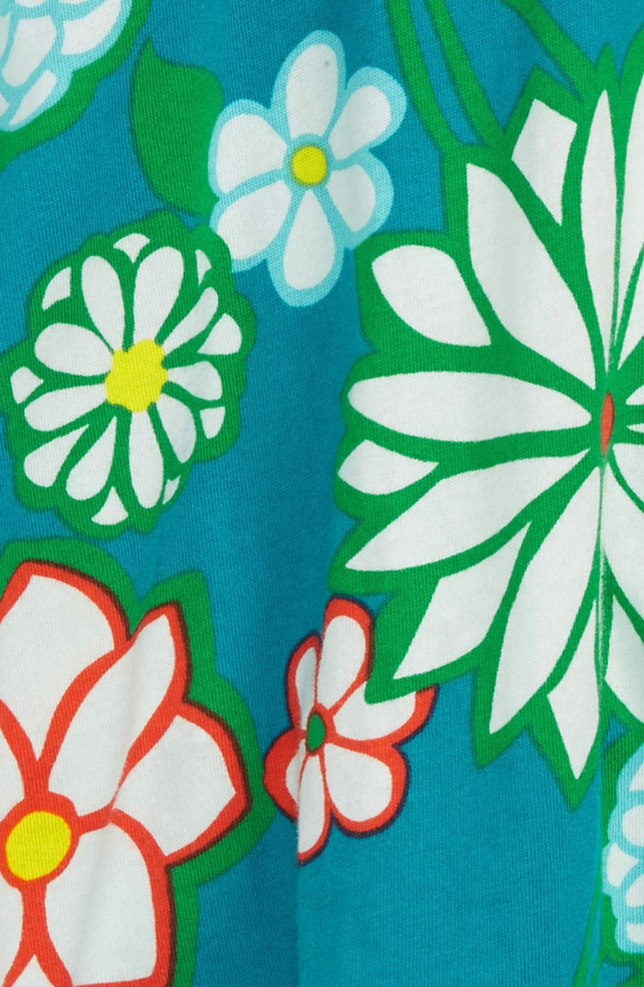 Print Jersey Skort,                             Alternate thumbnail 2, color,                             Ultramarine Green Daisy Grn