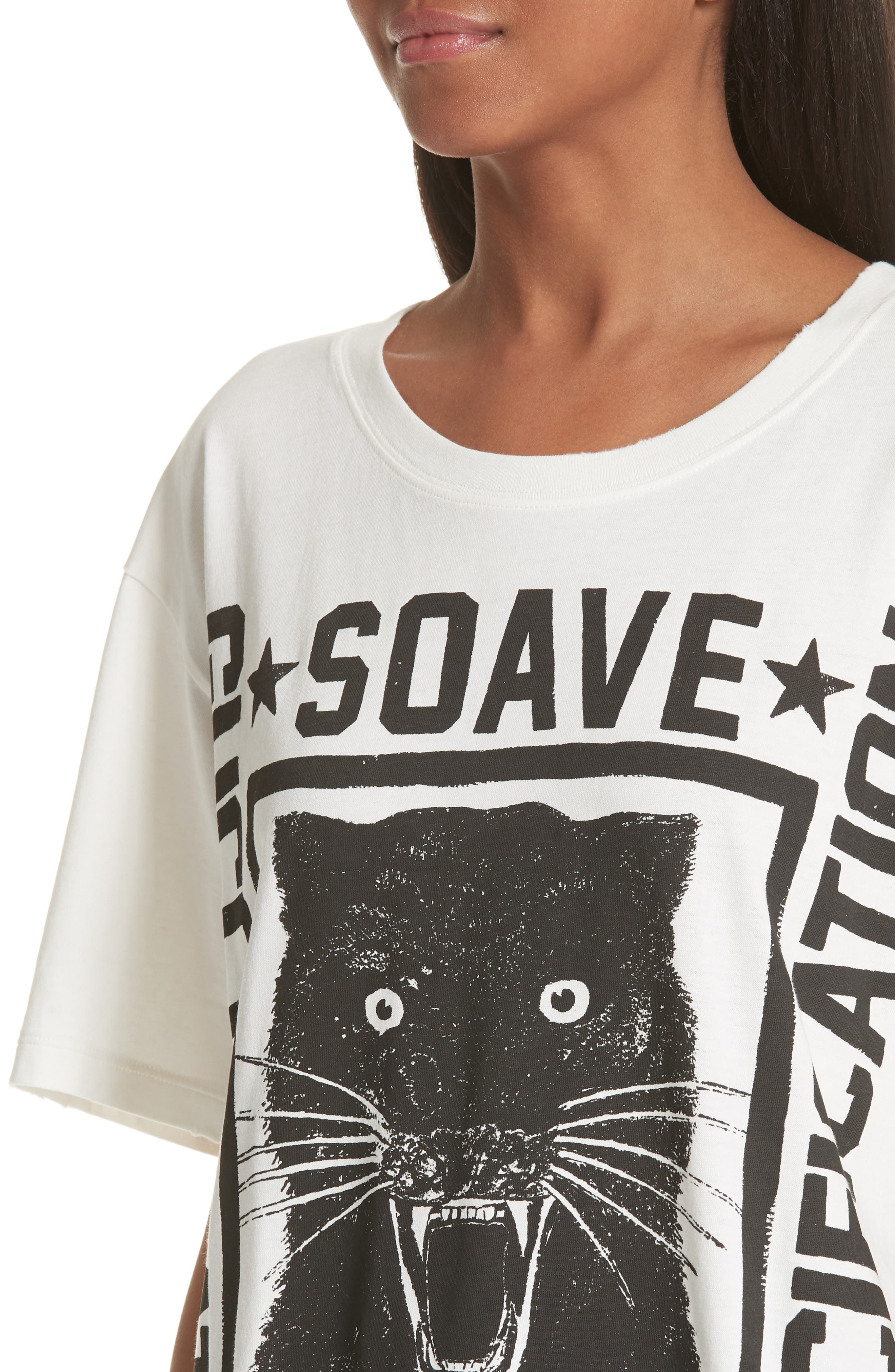 Amore Graphic Tee,                             Alternate thumbnail 4, color,                             Ivory Black