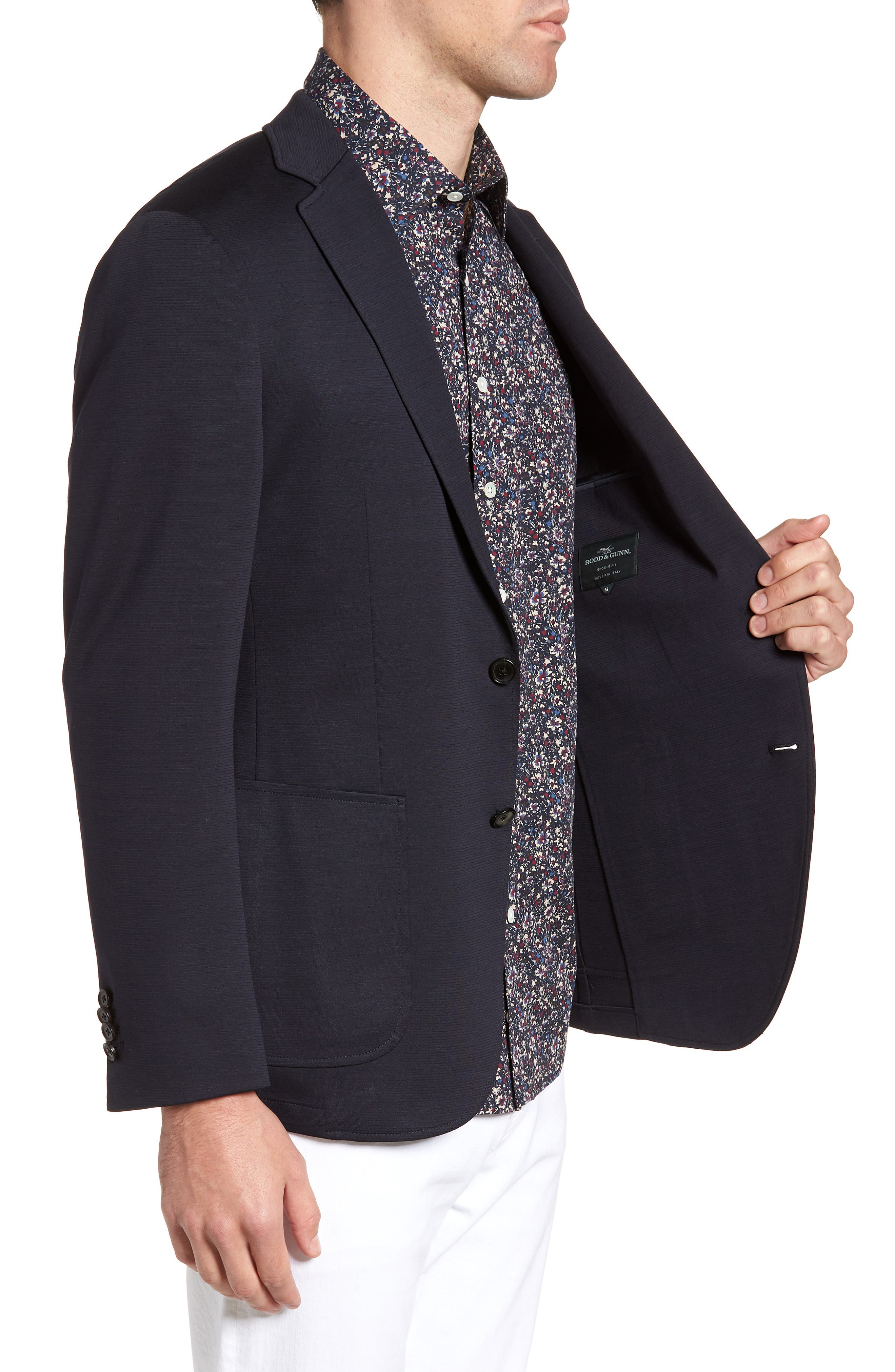 Cardrona Slim Fit Wool Blend Blazer,                             Alternate thumbnail 3, color,                             Navy