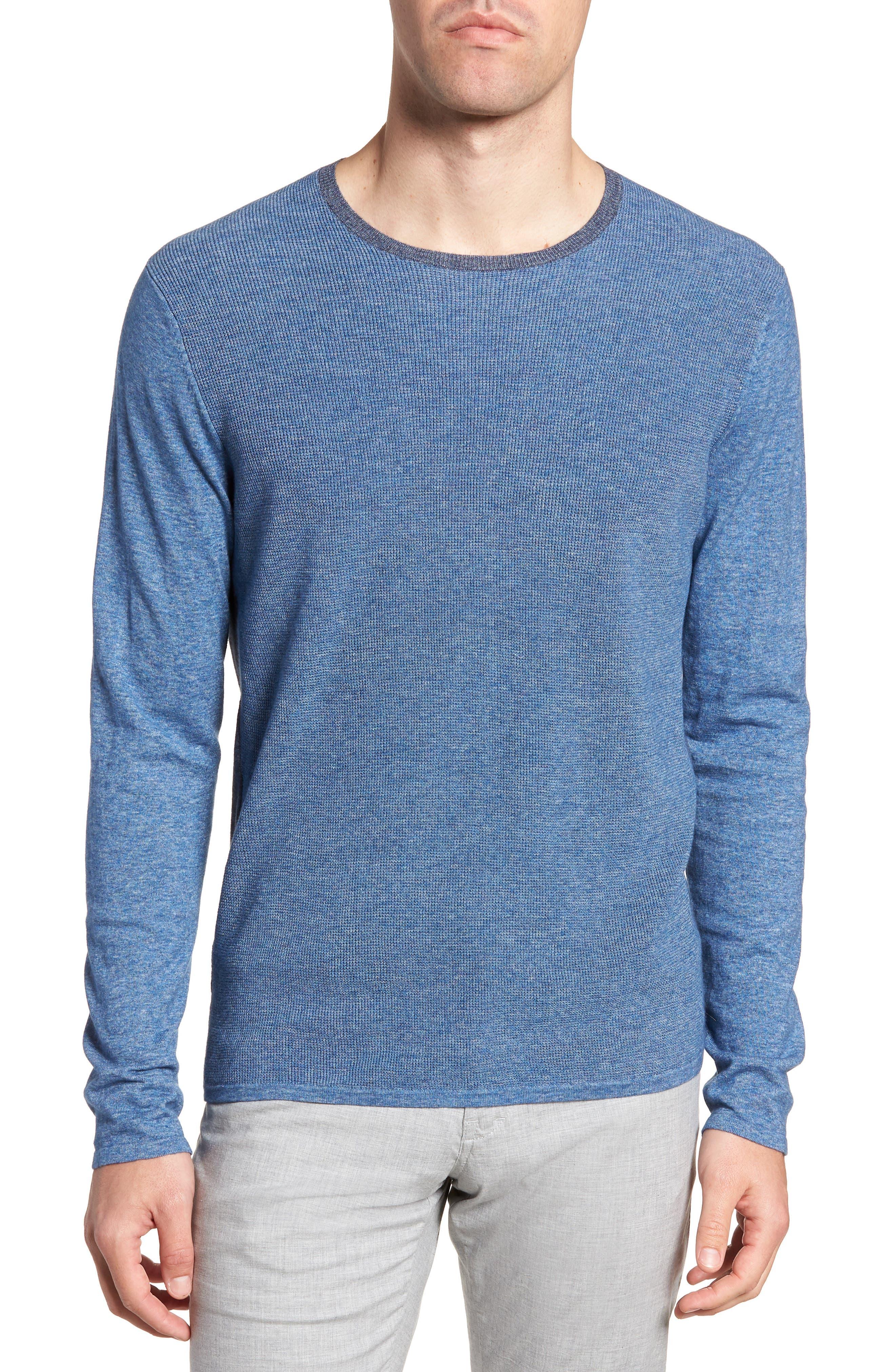 Lakeside Sweater,                         Main,                         color, Denim Heather
