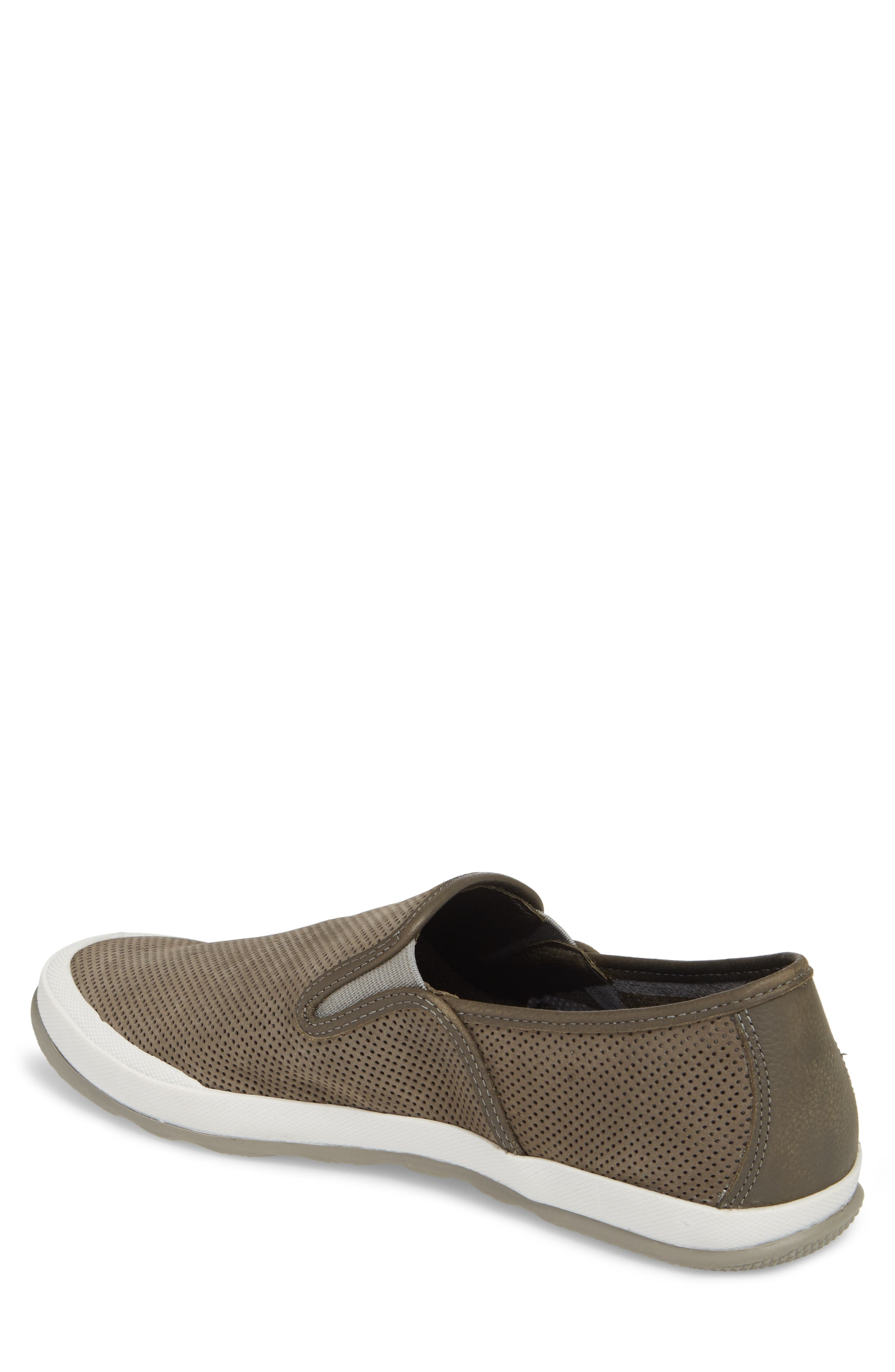 'Mullen' Slip-On,                             Alternate thumbnail 2, color,                             Grey Perfed Nubuck