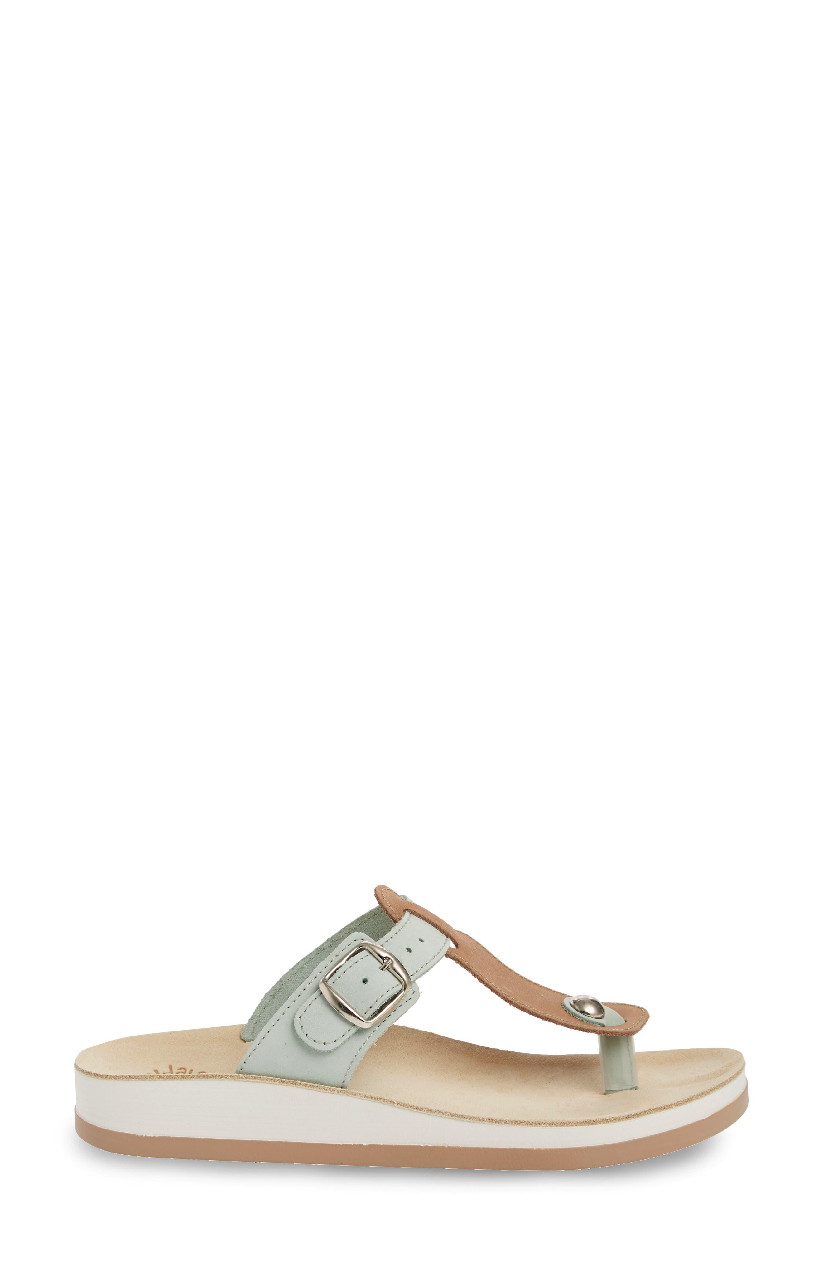 Viola Sandal,                             Alternate thumbnail 3, color,                             Pistachio Beige Leather