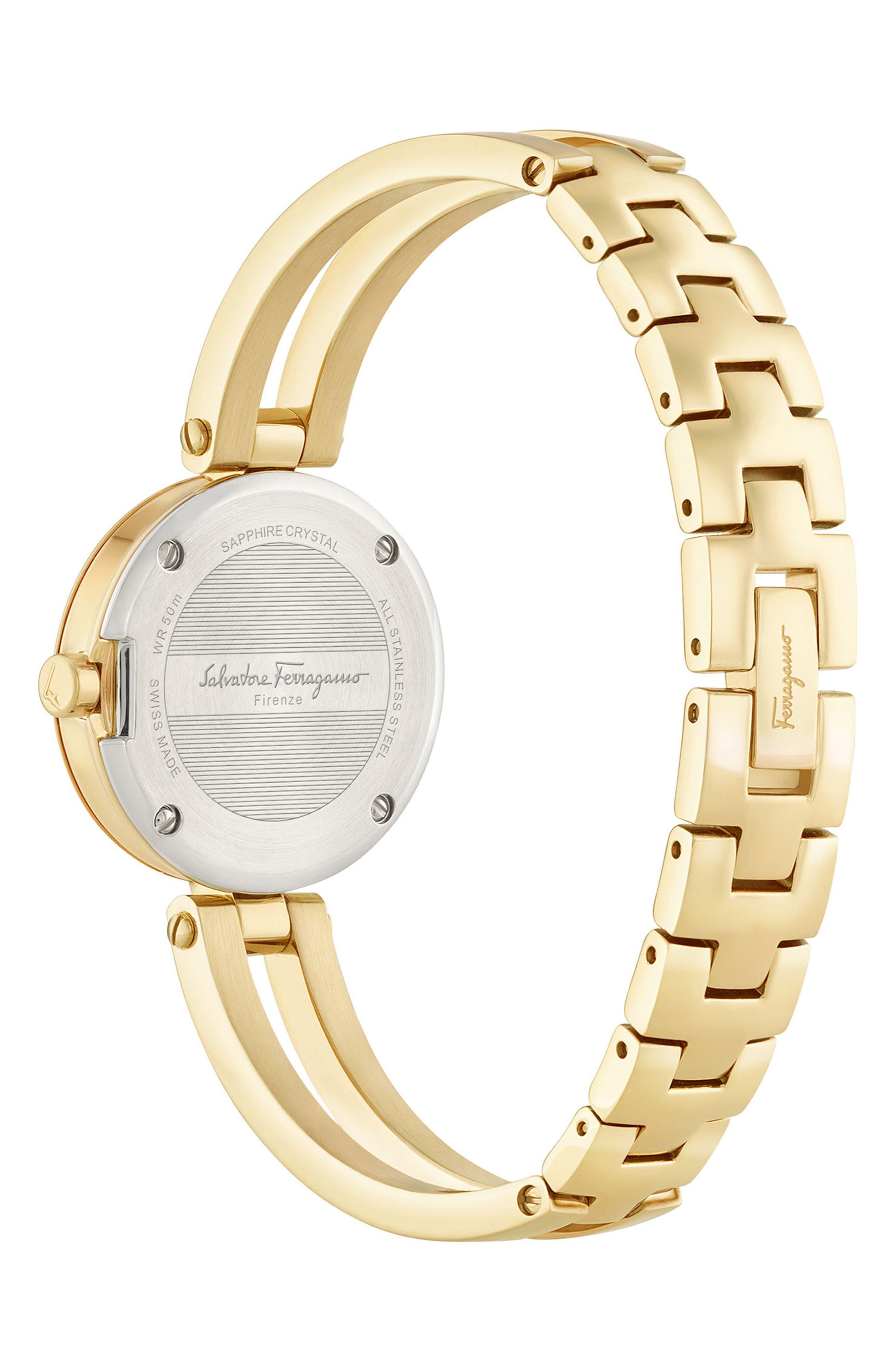 Miniature Bracelet Watch, 26mm,                             Alternate thumbnail 2, color,                             Gold/ Black/ Gold