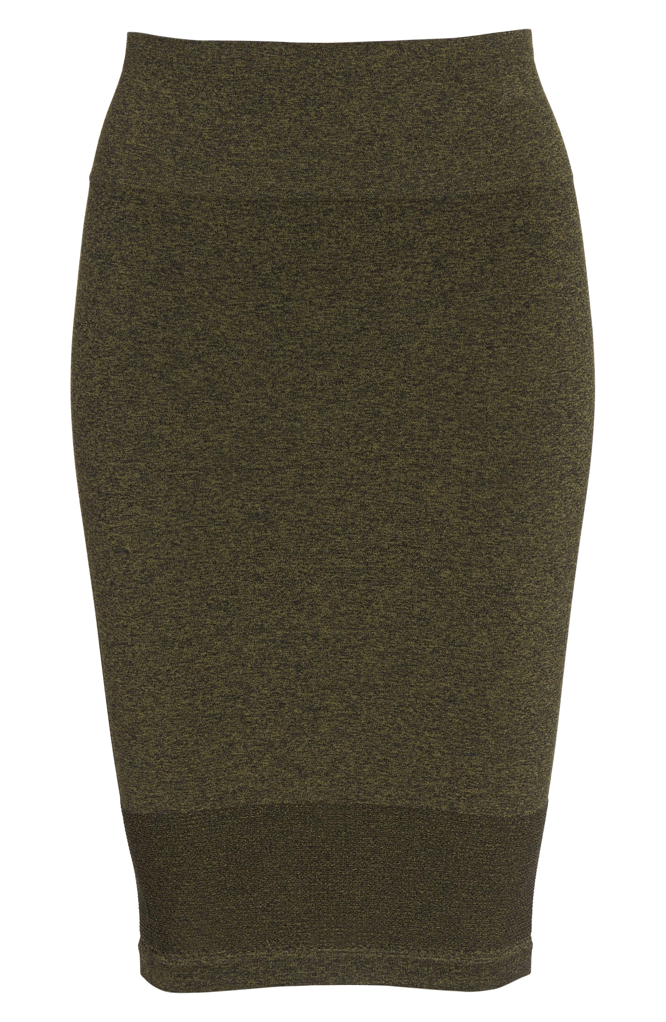 Aura Seamless Skirt,                             Alternate thumbnail 7, color,                             Deep Lichen Green/ Black
