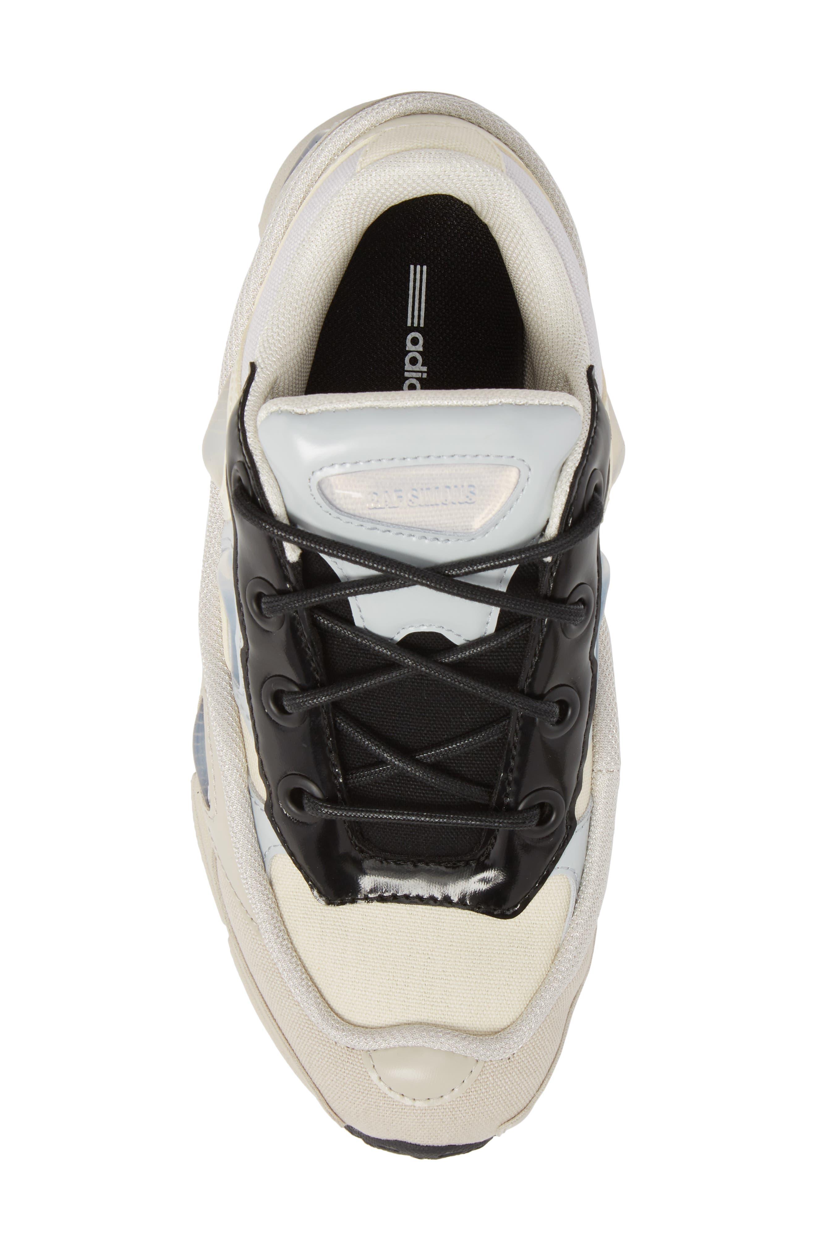 adidas by Raf Simons Ozweego III Sneaker,                             Alternate thumbnail 5, color,                             Cream White/ Mist Stone/ Black