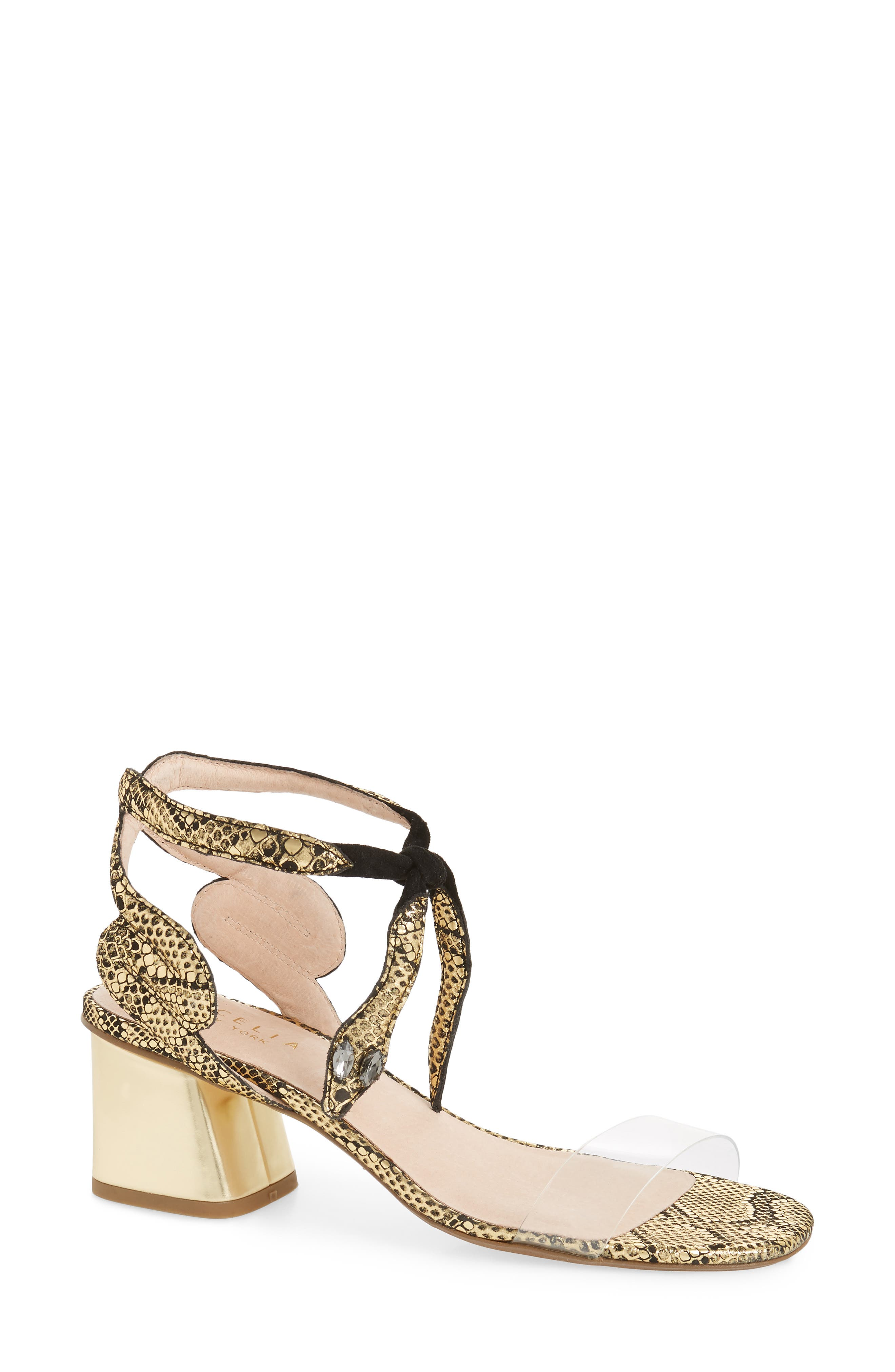 Cecelia New York Rosetta Block Heel Sandal (Women)