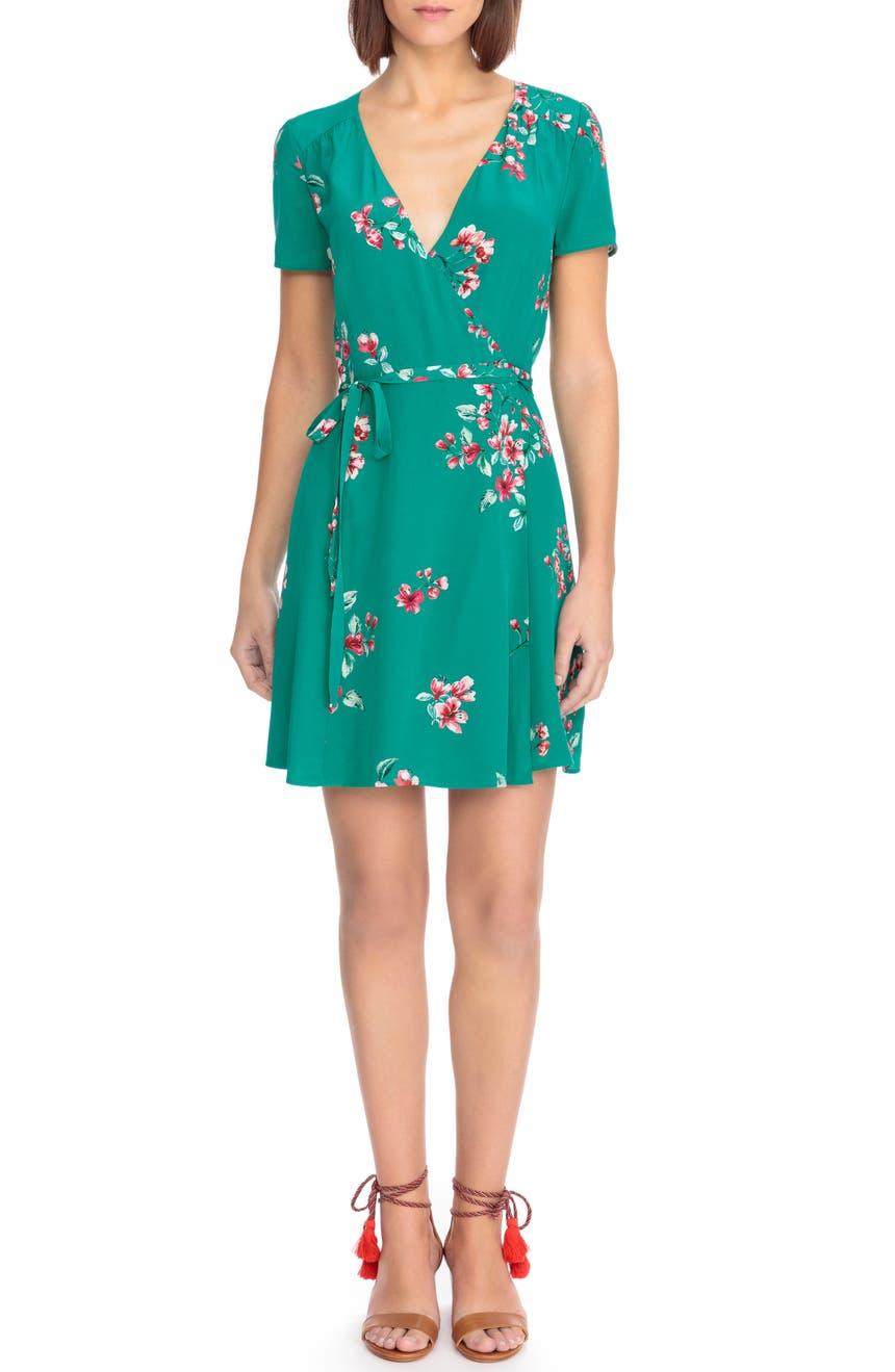 Sézane Anastasia Silk Wrap Dress | Nordstrom