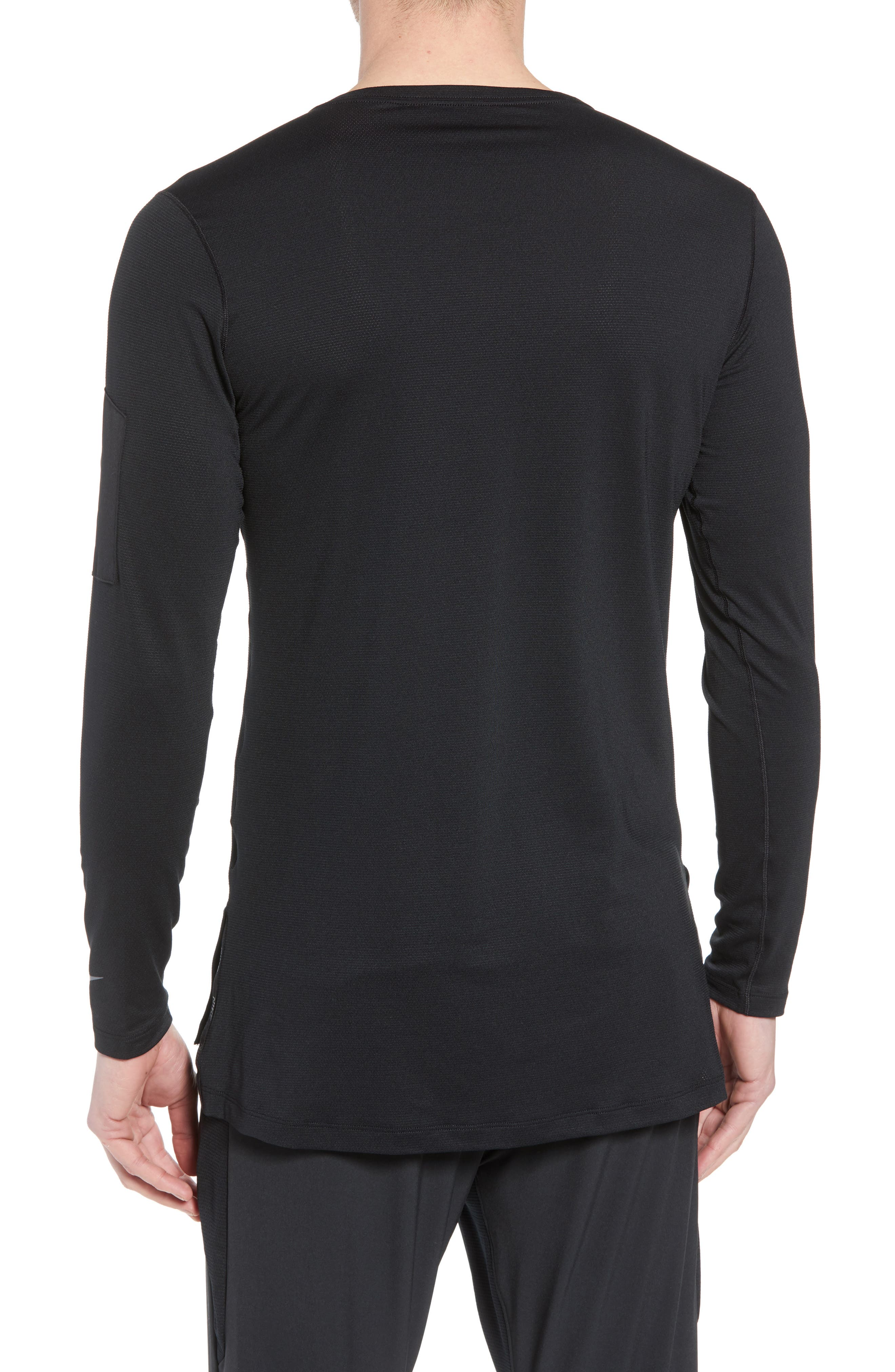 Pro Utility Fitted Training Top,                             Alternate thumbnail 2, color,                             Black/ Black