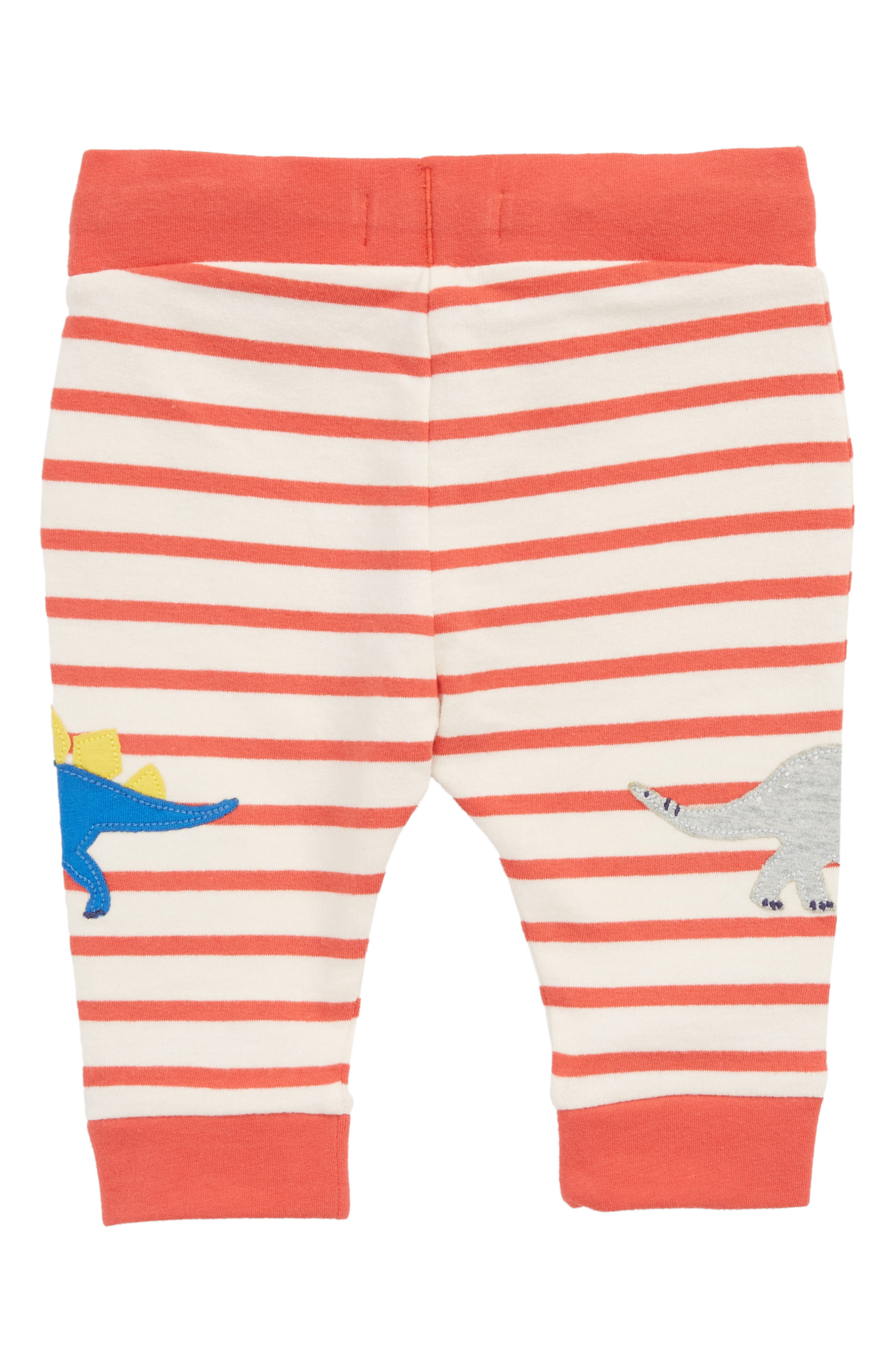 Fun Dino Appliqué Jersey Pants,                             Alternate thumbnail 2, color,                             Crayon Red