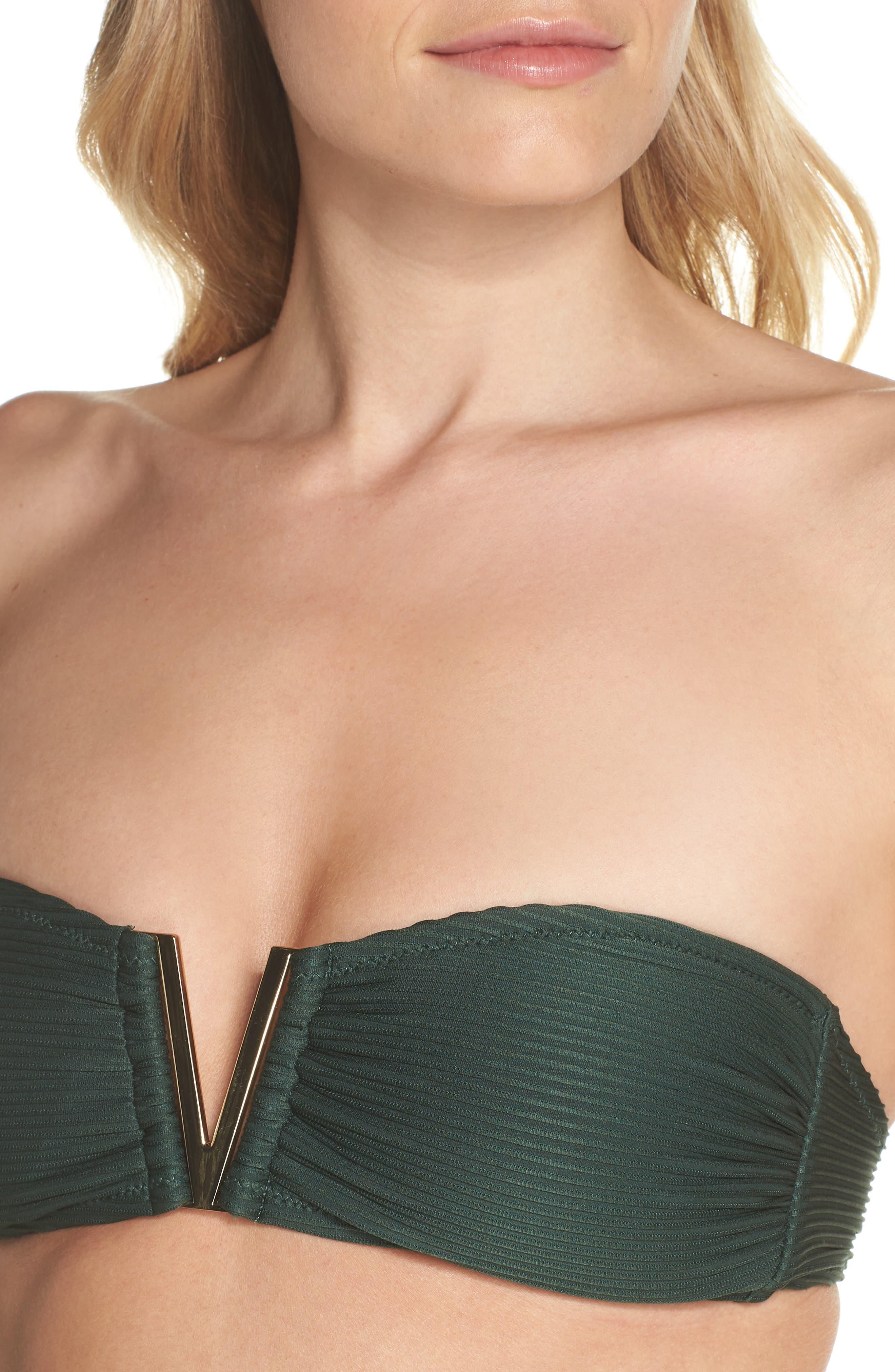 Bandeau Bikini Top,                             Alternate thumbnail 5, color,                             Green