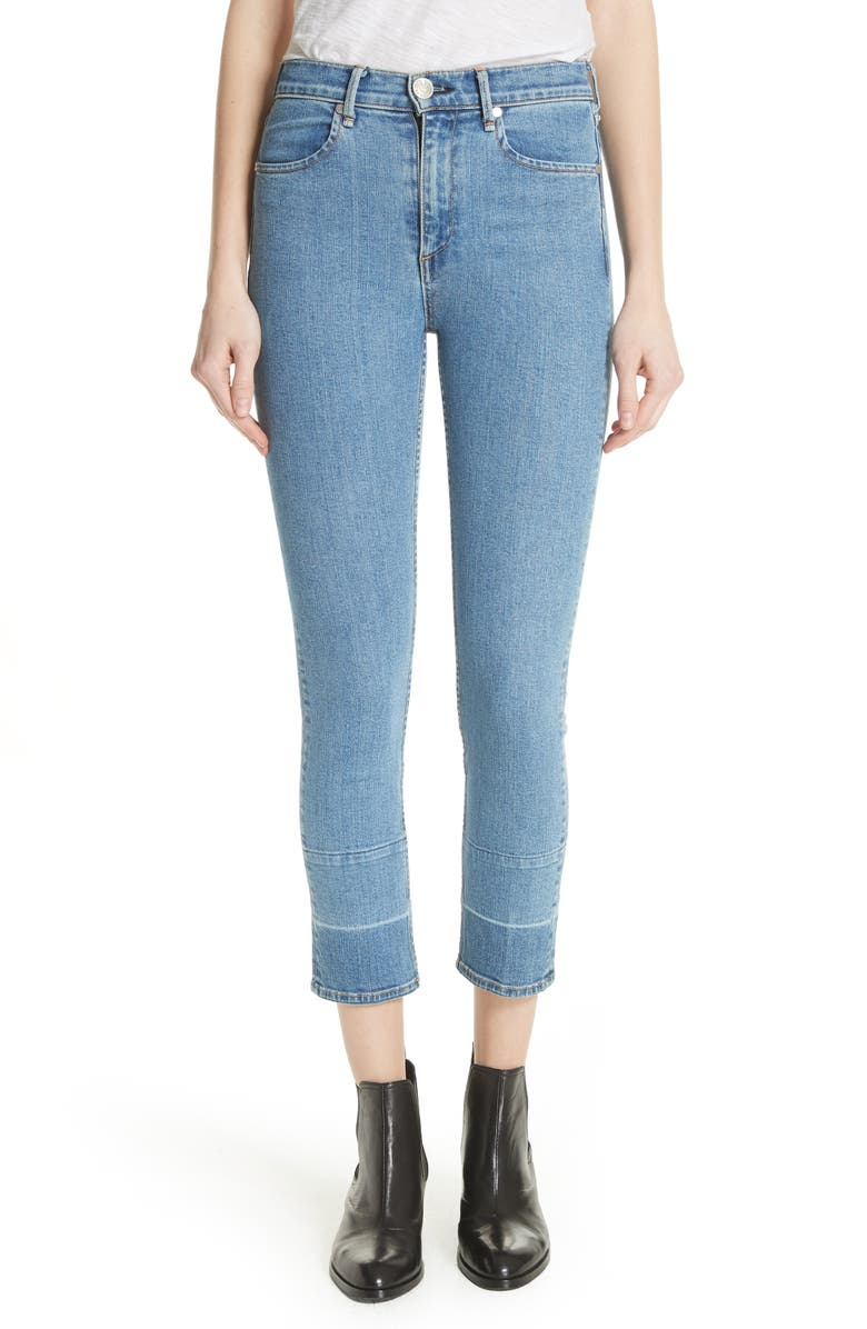 High Waist Ankle Cigarette Jeans
