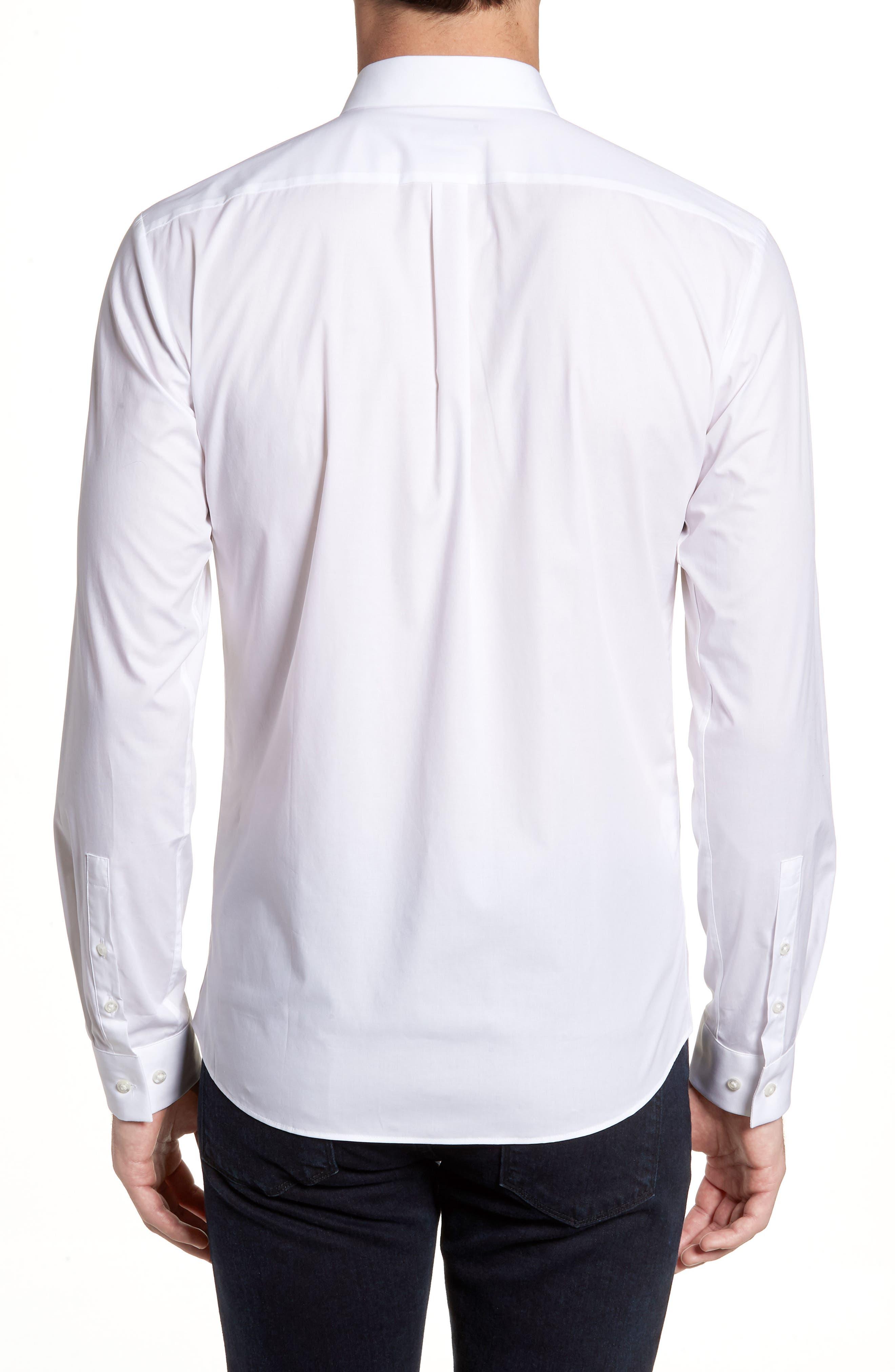 Ero3 Trim Fit Sport Shirt,                             Alternate thumbnail 2, color,                             White