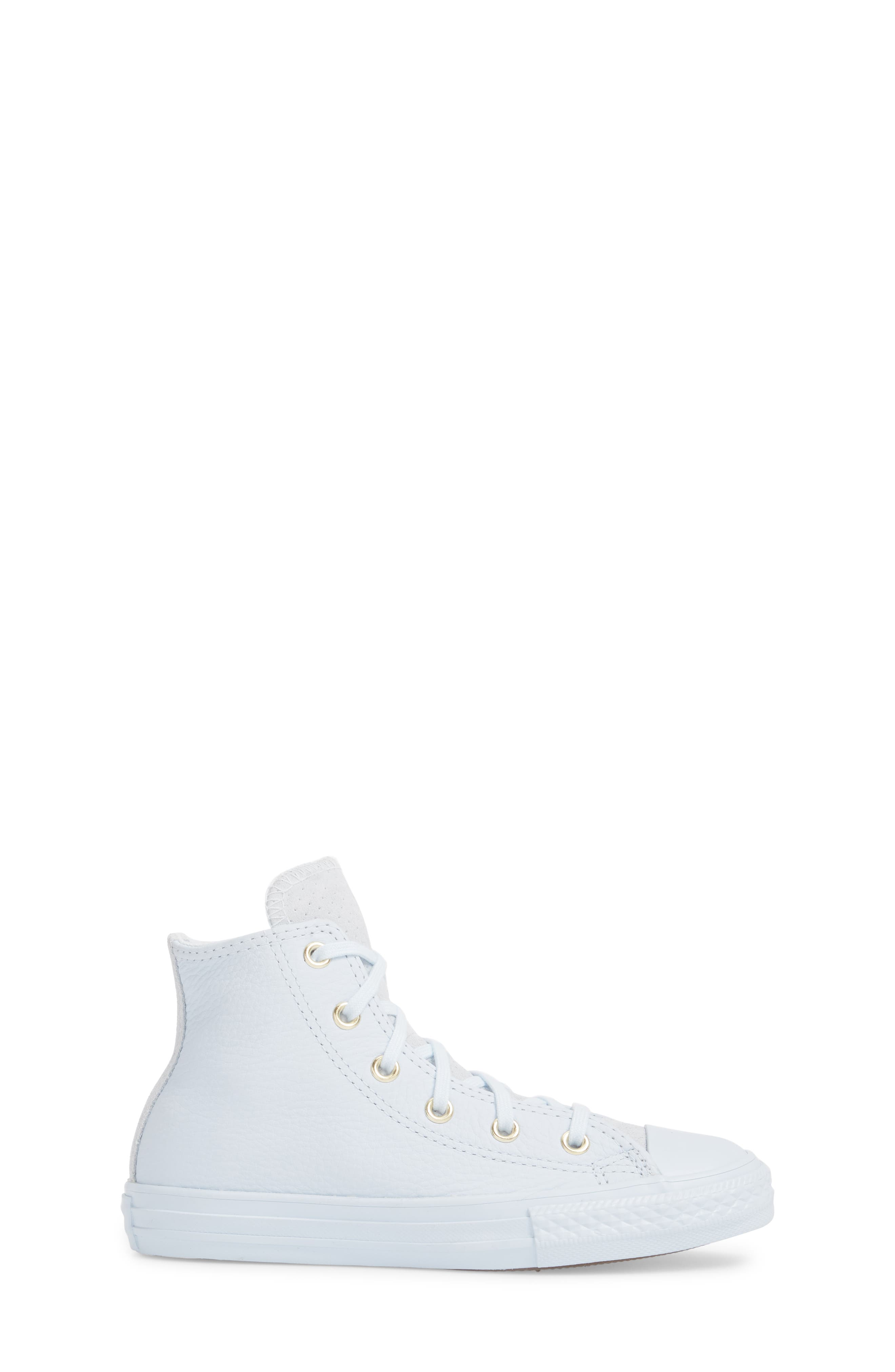 Chuck Taylor<sup>®</sup> All Star<sup>®</sup> Mono High Top Sneaker,                             Alternate thumbnail 3, color,                             Blue Tint