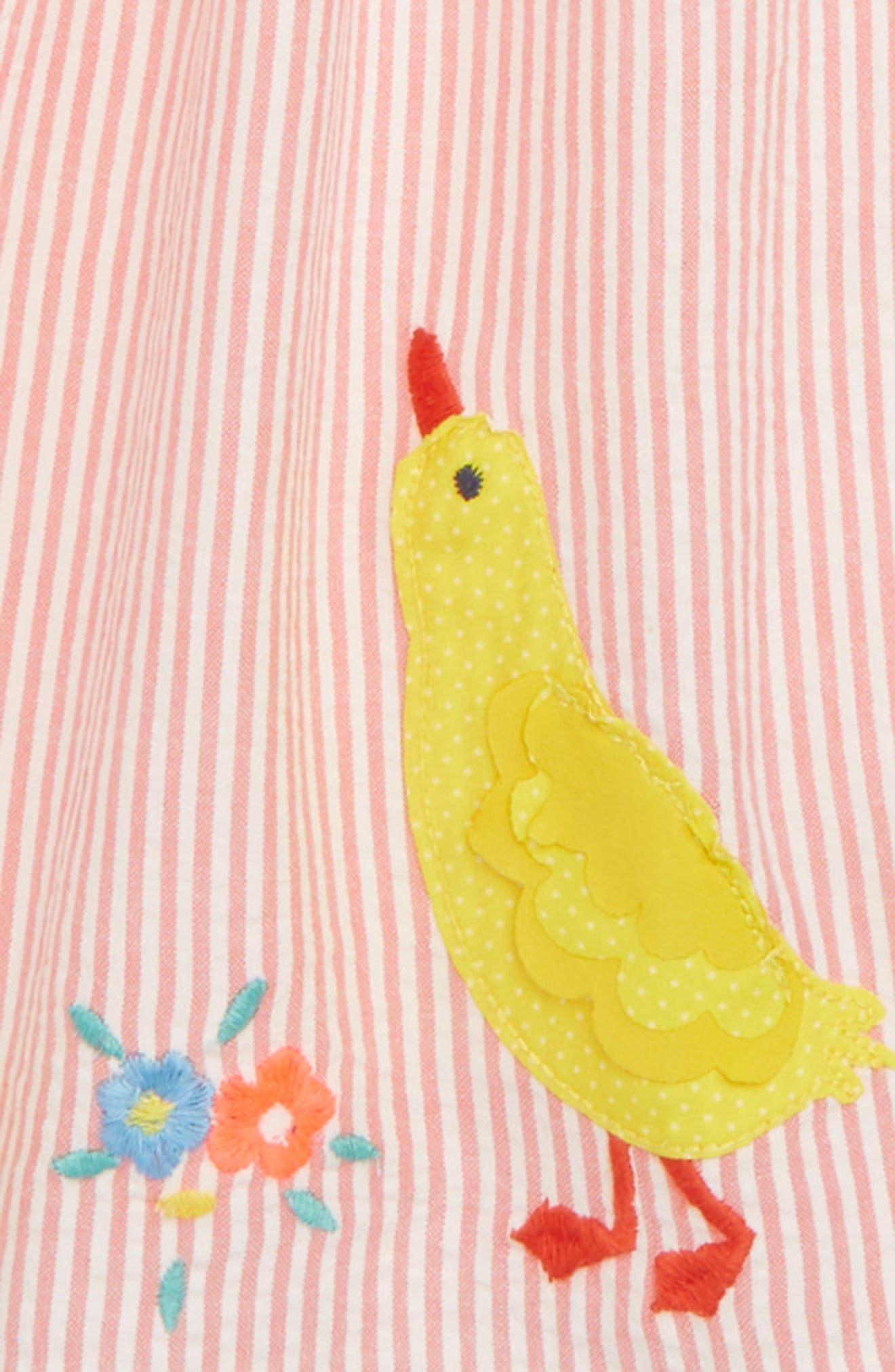 Smocked Chick Appliqué Dress,                             Alternate thumbnail 2, color,                             Crab Apple/ Pink Duck