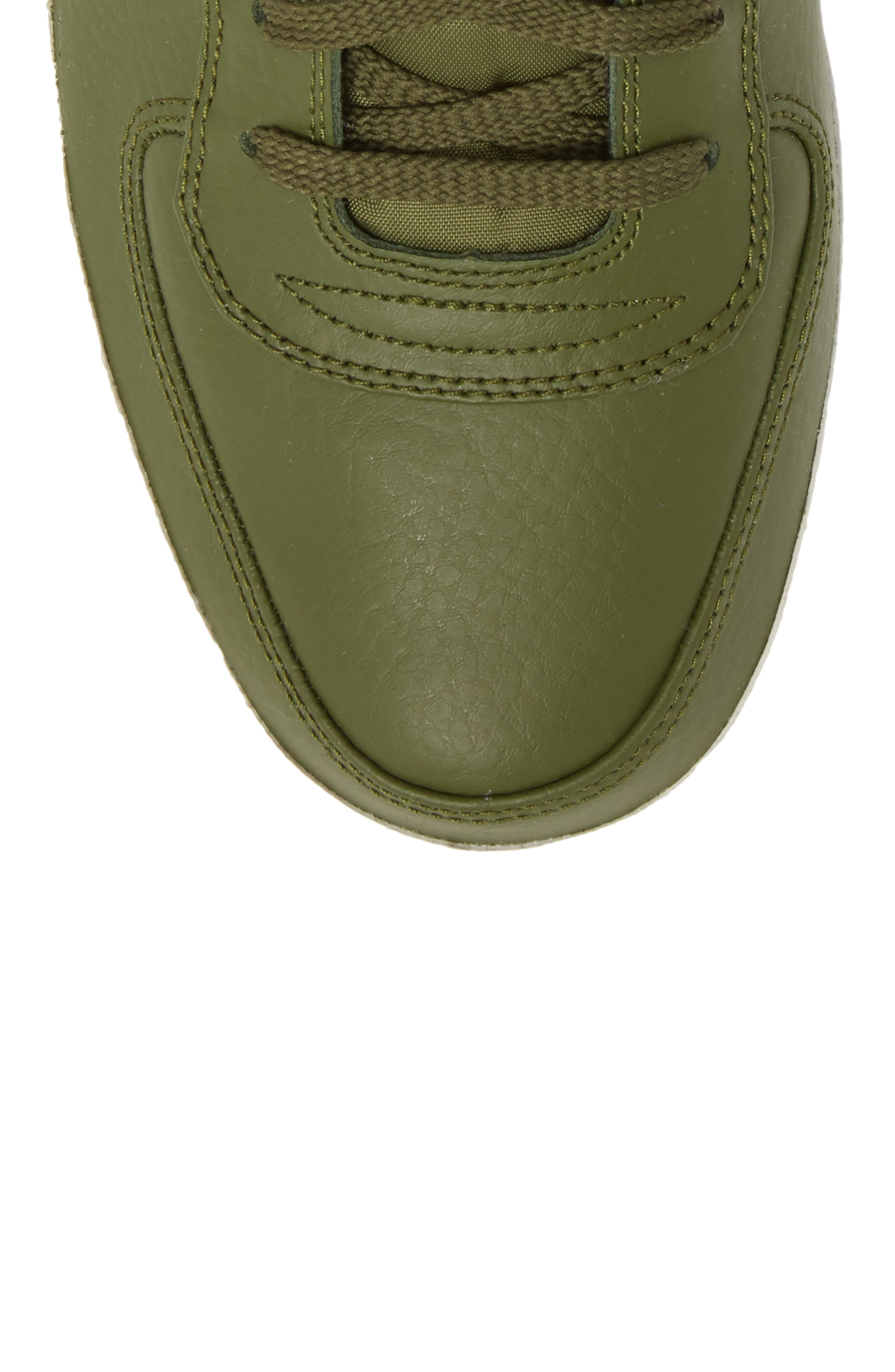 Vandal High Supreme Leather Sneaker,                             Alternate thumbnail 5, color,                             Legion Green/ Summit White