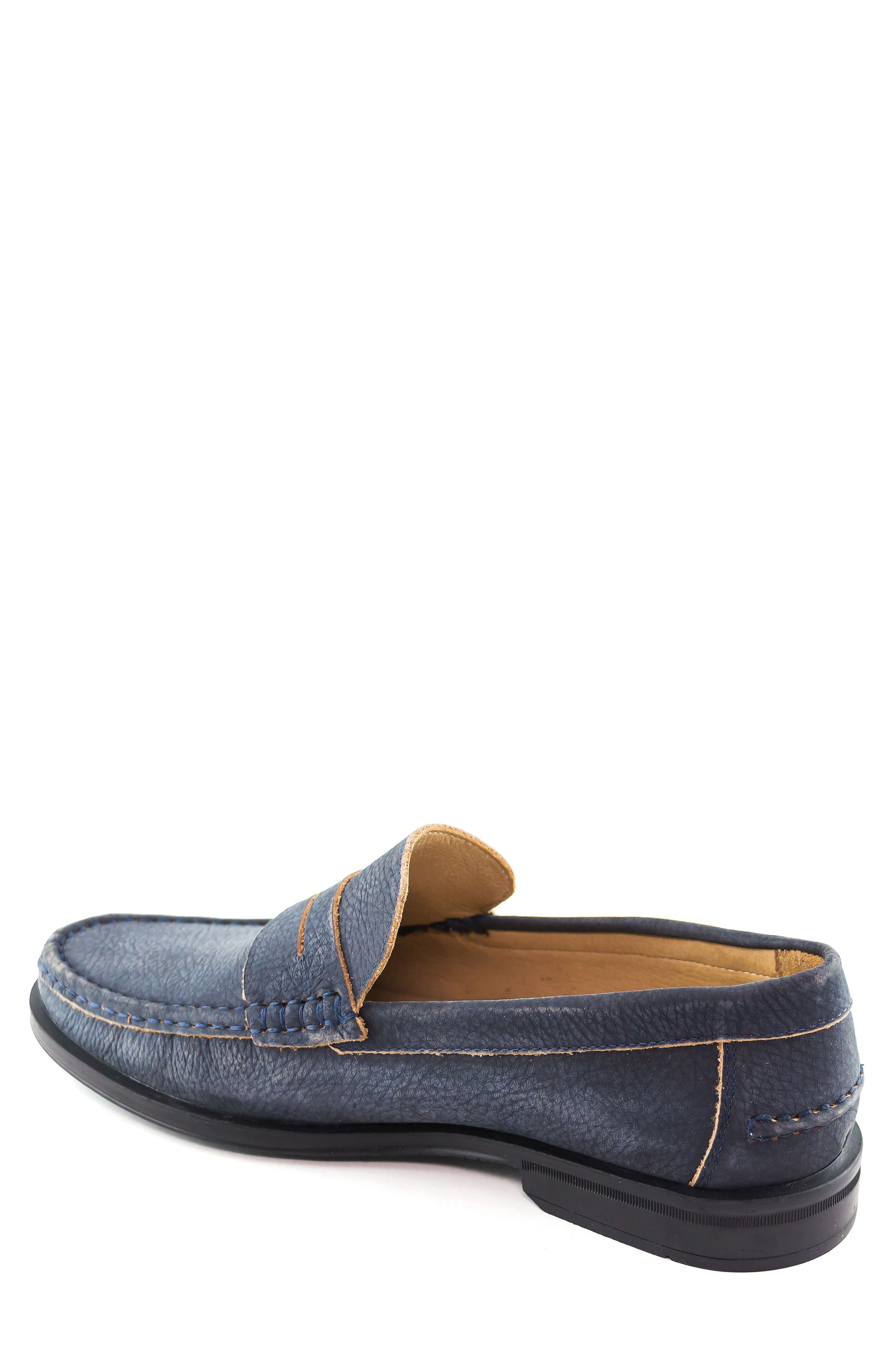 Cortland Penny Loafer,                             Alternate thumbnail 2, color,                             Navy