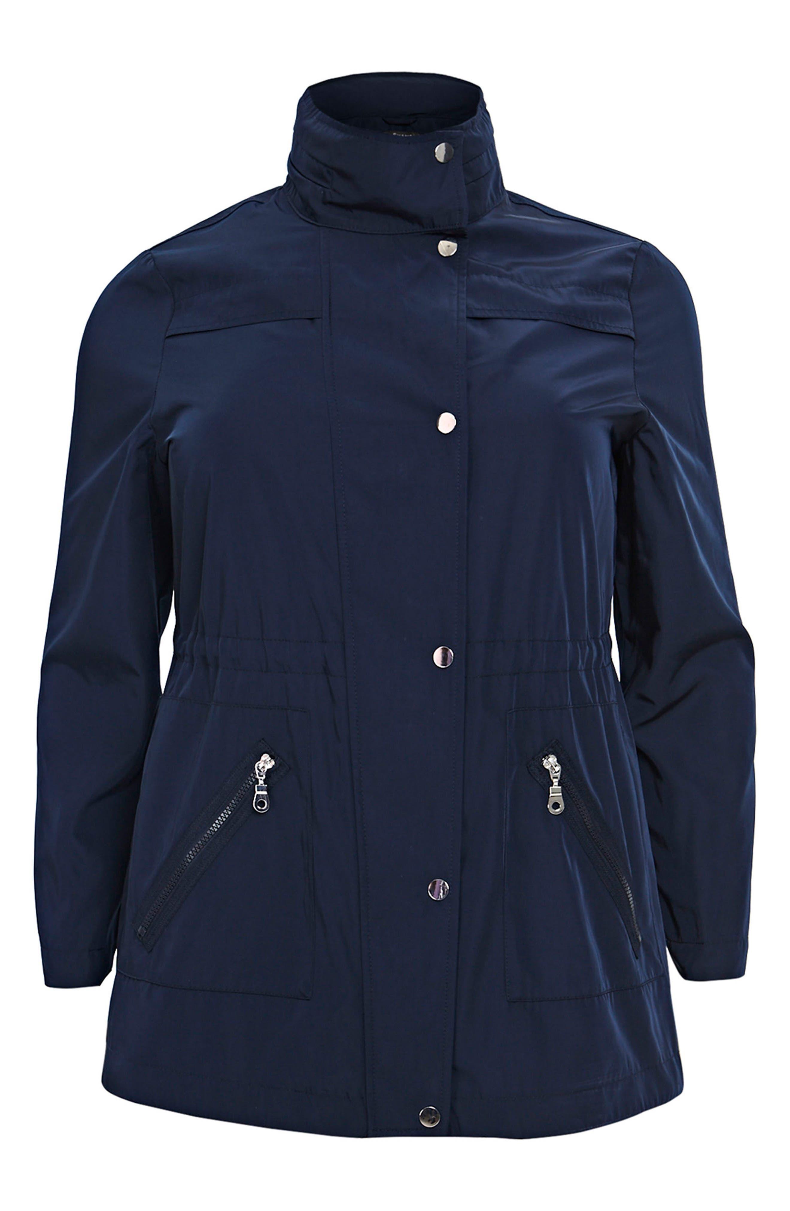 Zip Trim Jacket,                             Alternate thumbnail 3, color,                             Navy Blue