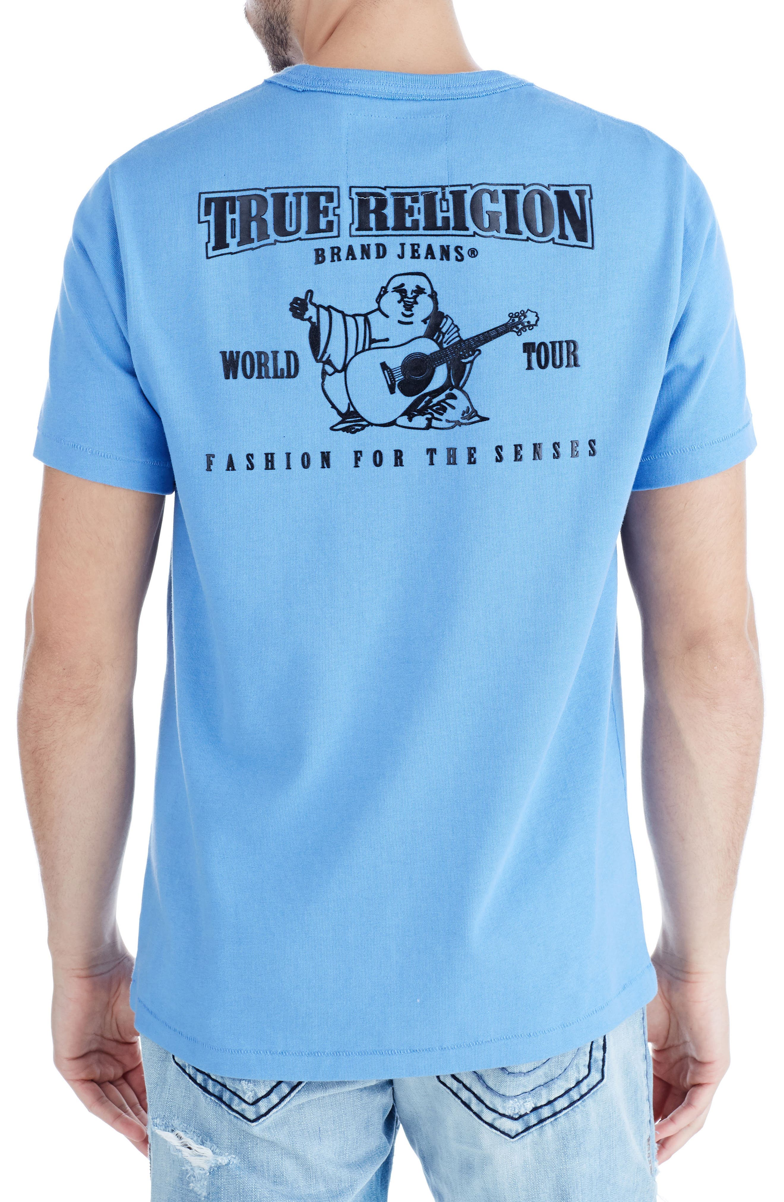 Buddha Graphic T-Shirt,                             Alternate thumbnail 2, color,                             Digital Blue