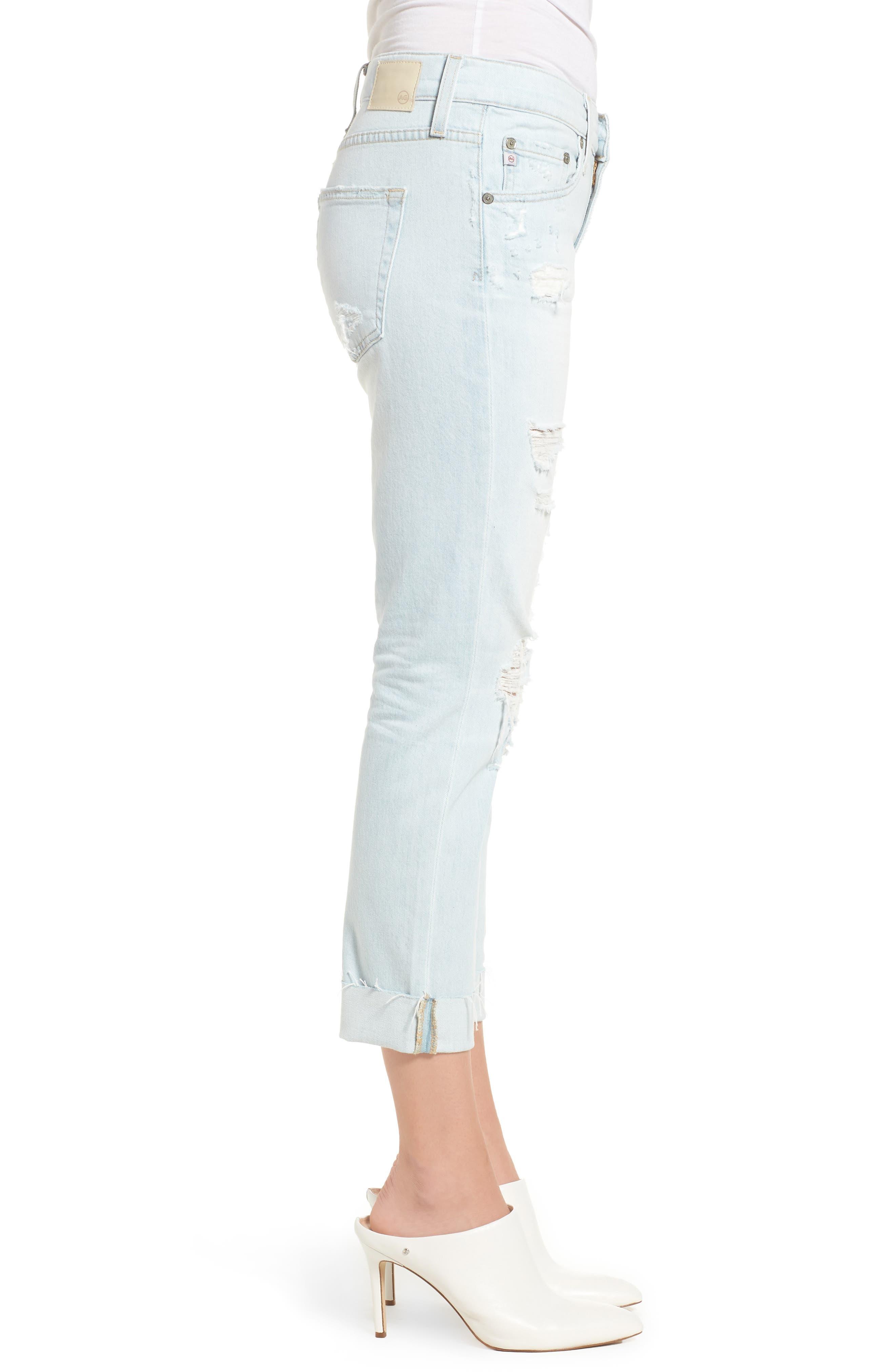 Alternate Image 3  - AG The Ex-Boyfriend Crop Slim Jeans