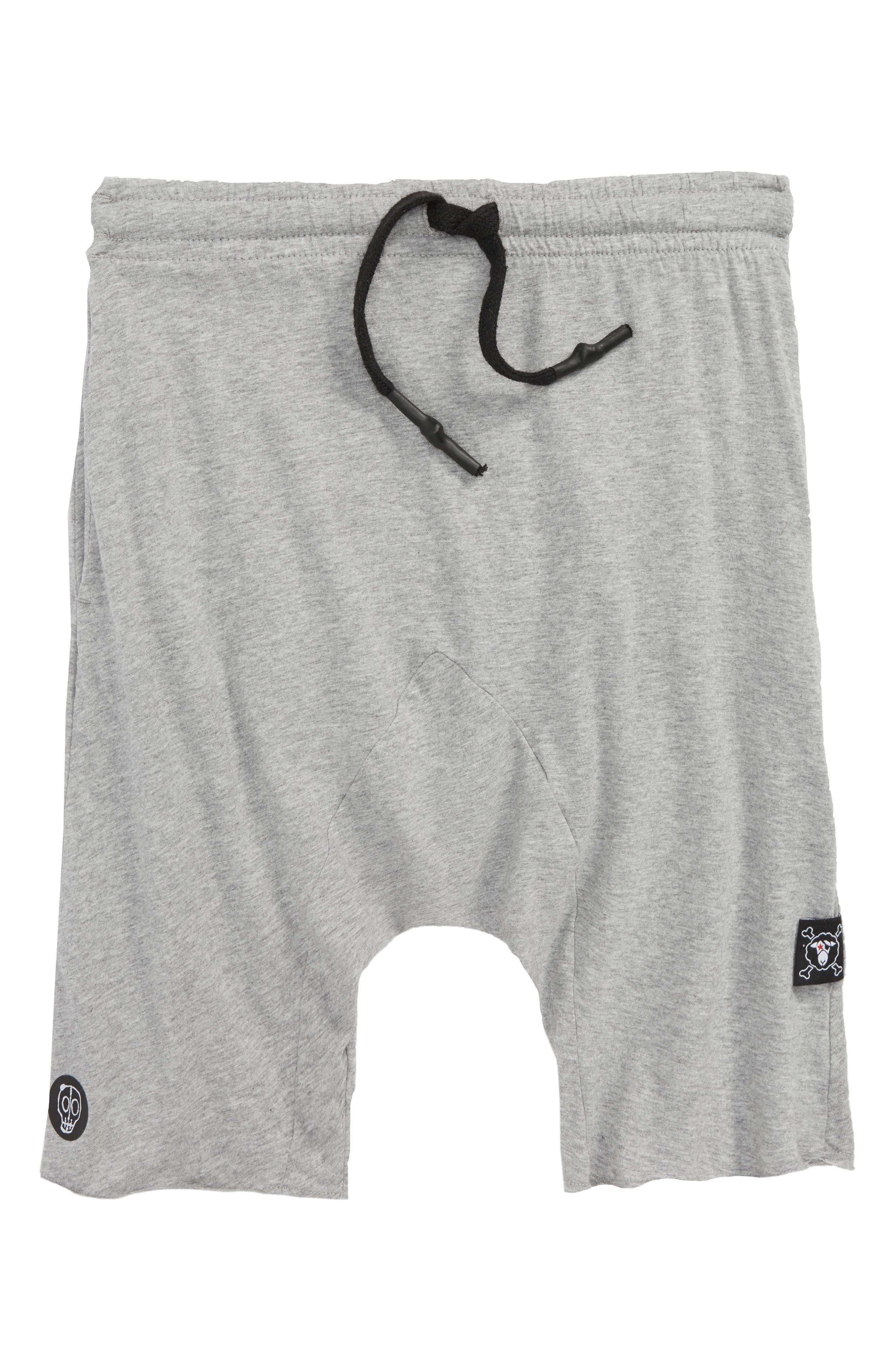 Knit Shorts,                         Main,                         color, Heather Grey