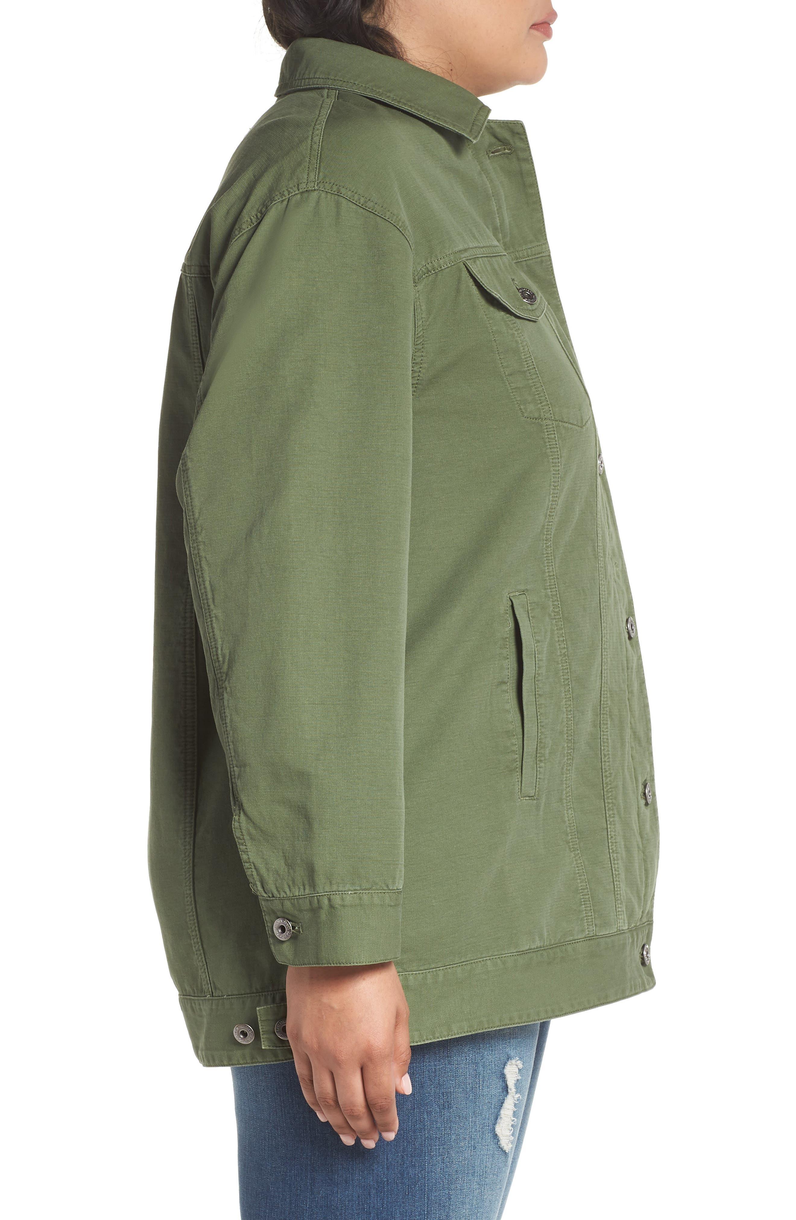 Alternate Image 3  - Levi's® Oversize Cotton Canvas Trucker Jacket (Plus Size)