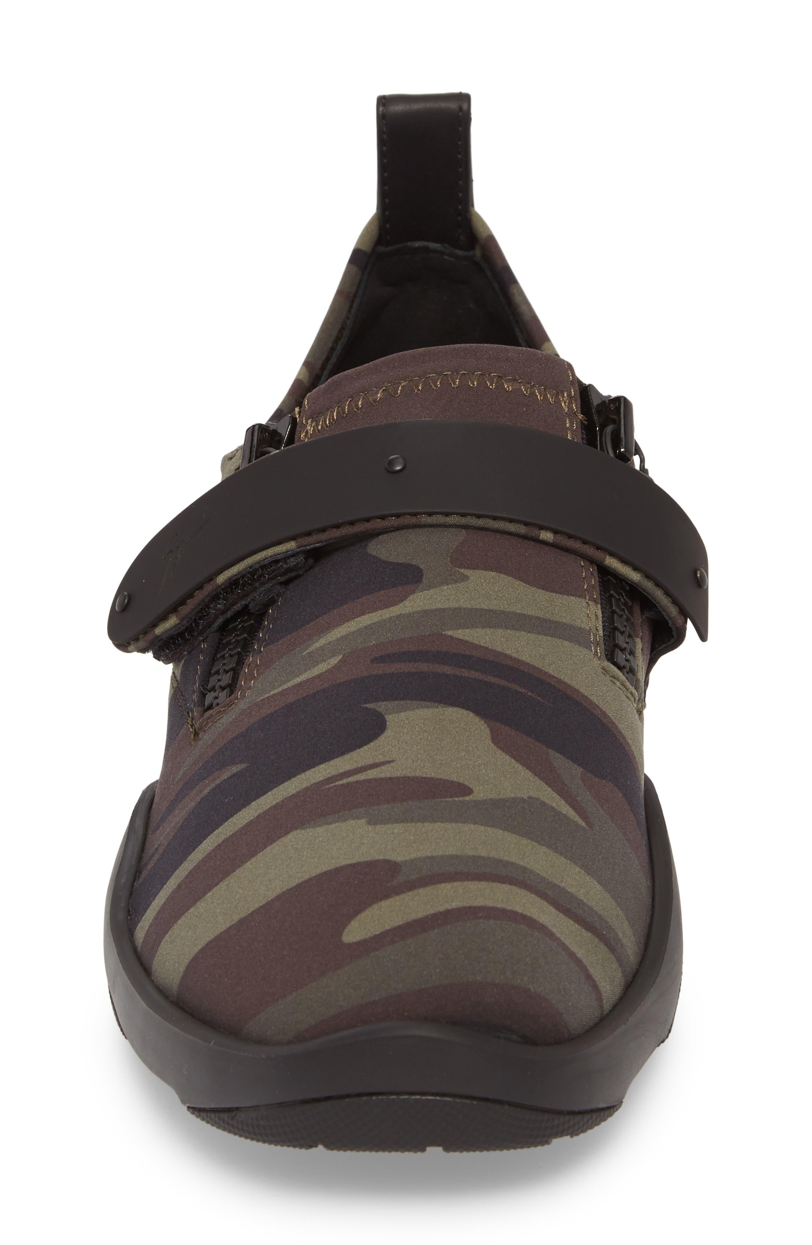 Scuba Strap Sneaker,                             Alternate thumbnail 4, color,                             Military Neoprene