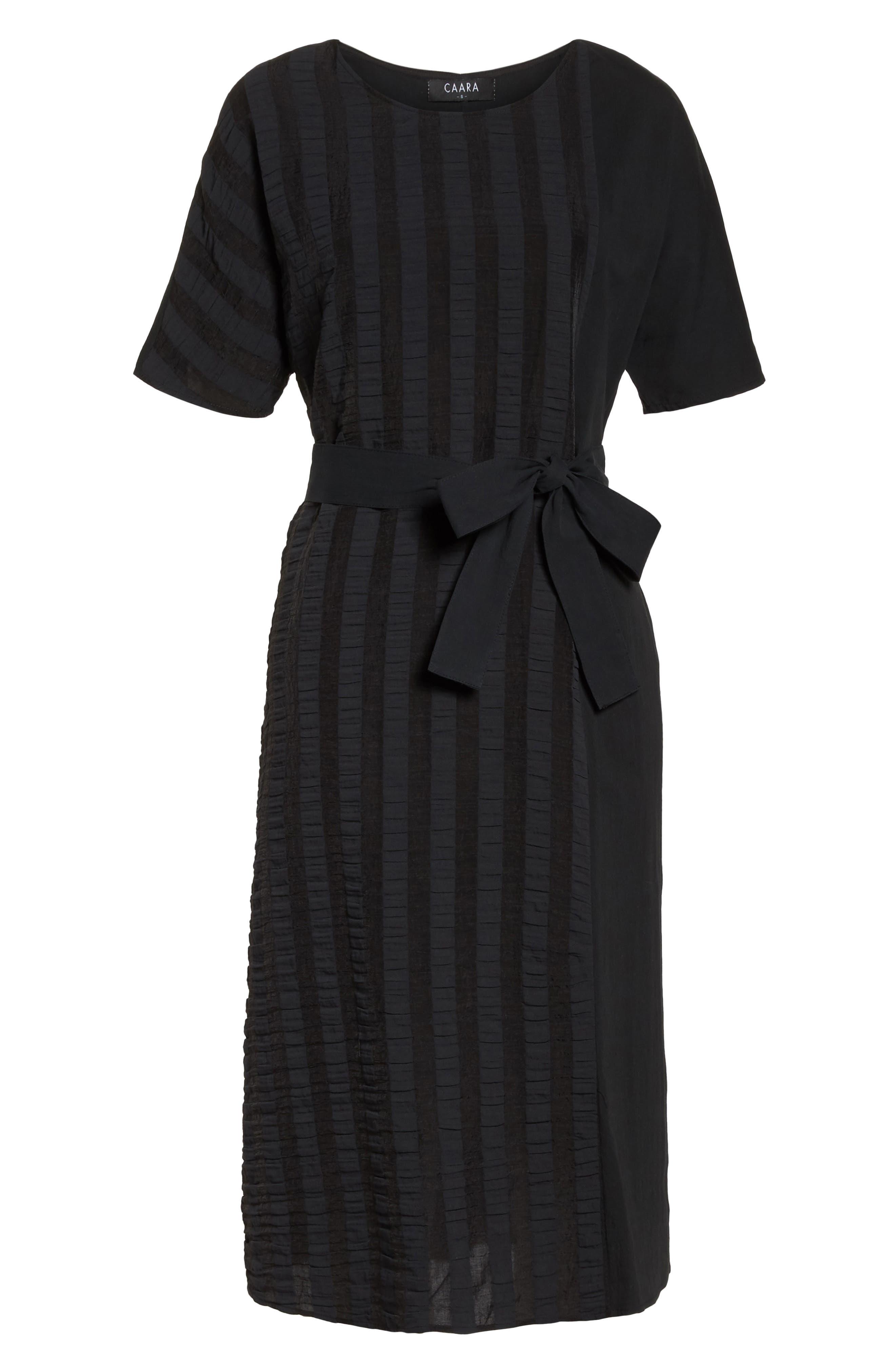 Throwing Shade Midi Dress,                             Alternate thumbnail 7, color,                             Black