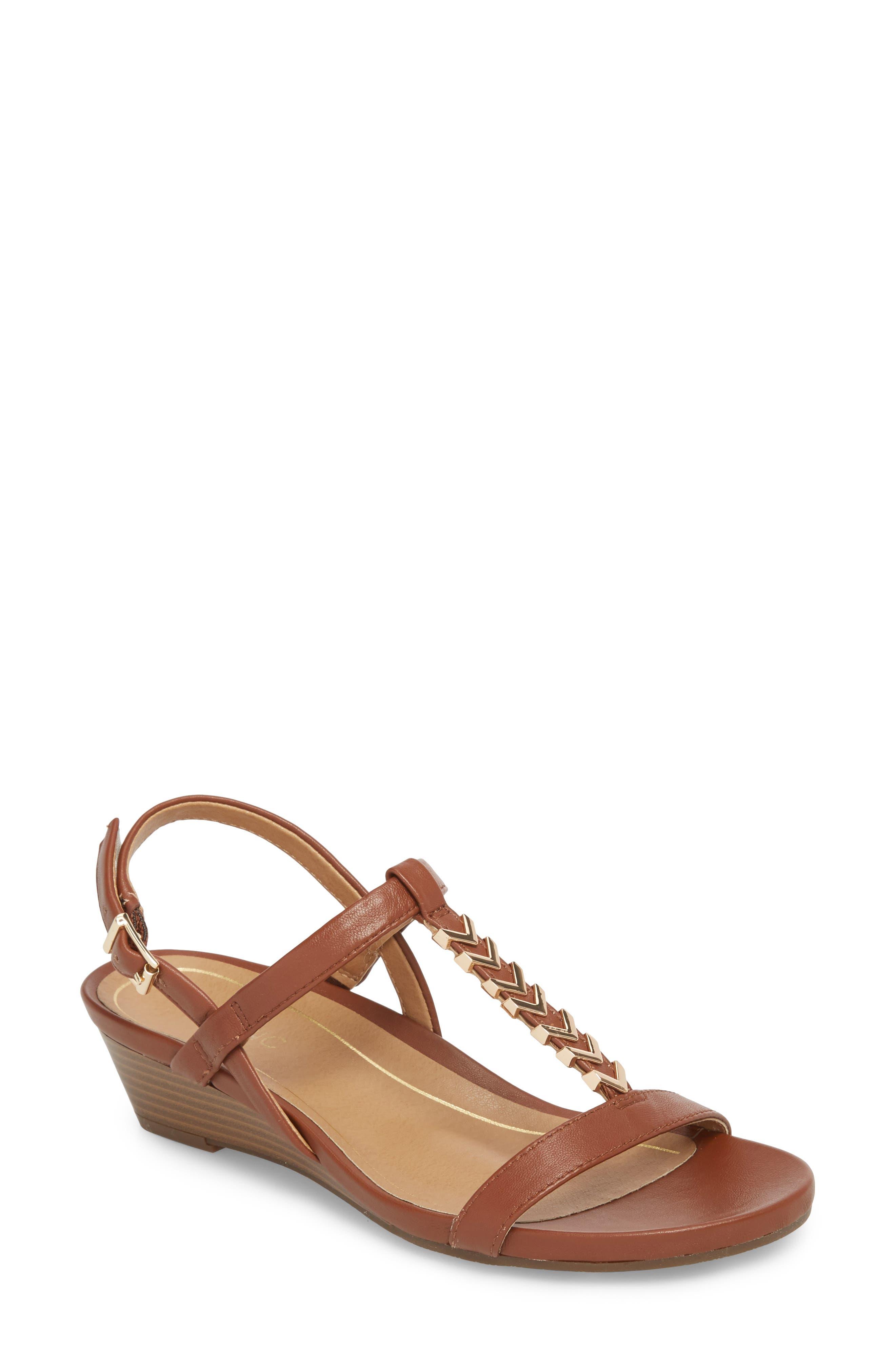 Vionic Cali T-Strap Wedge Sandal (Women)