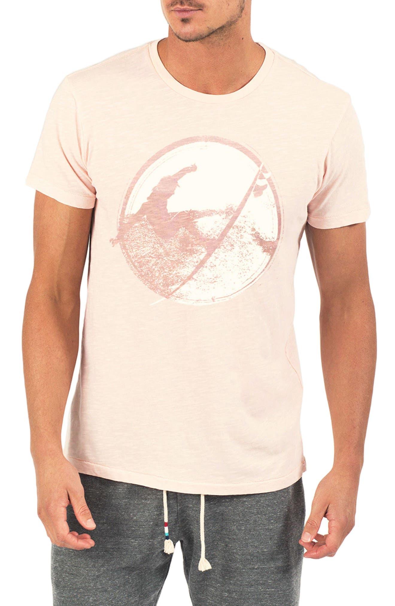Back Hack Graphic T-Shirt,                             Main thumbnail 1, color,                             Coral
