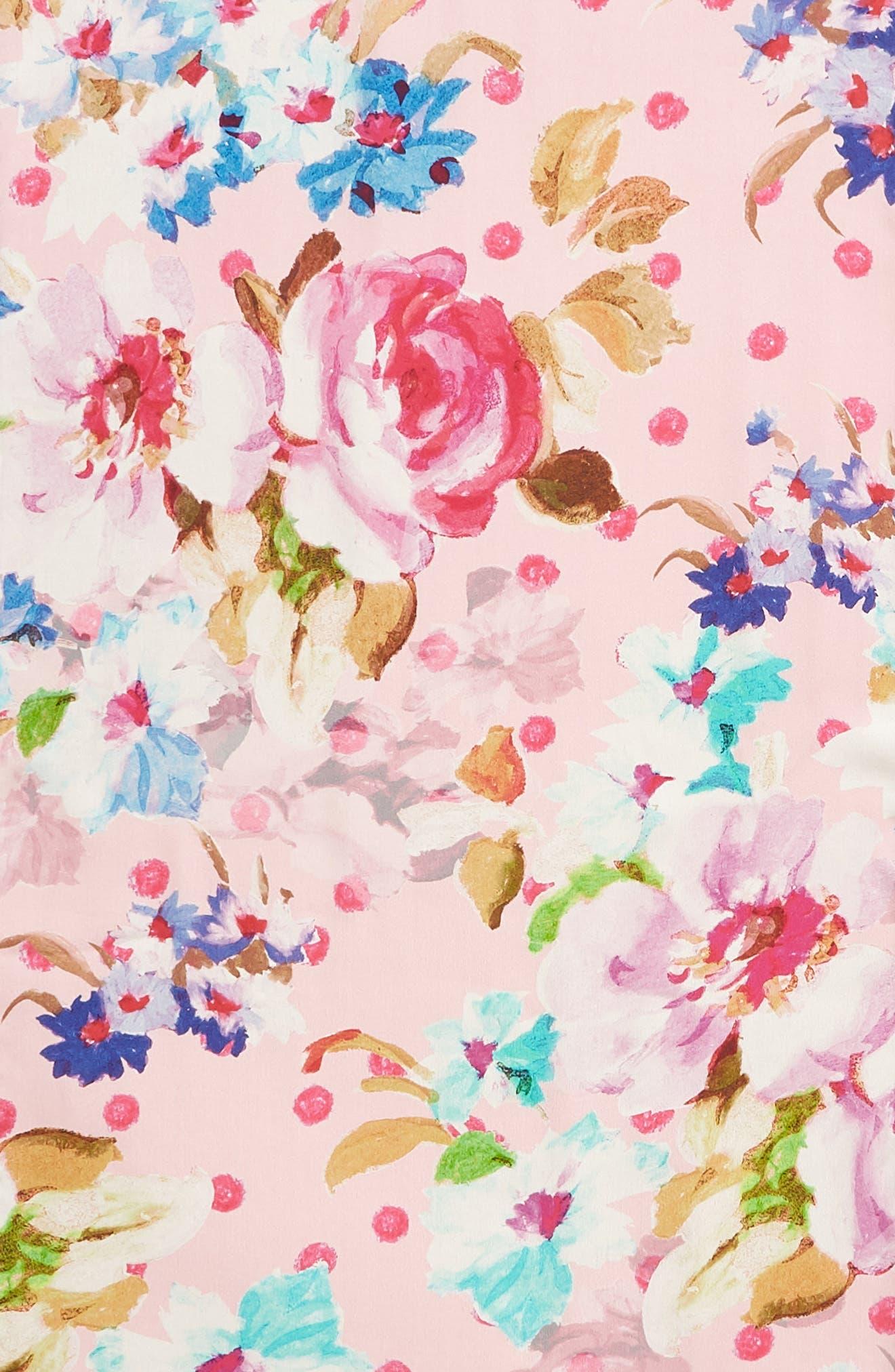 Springtime Double-Face Silk Scarf,                             Alternate thumbnail 4, color,                             Rose Pink