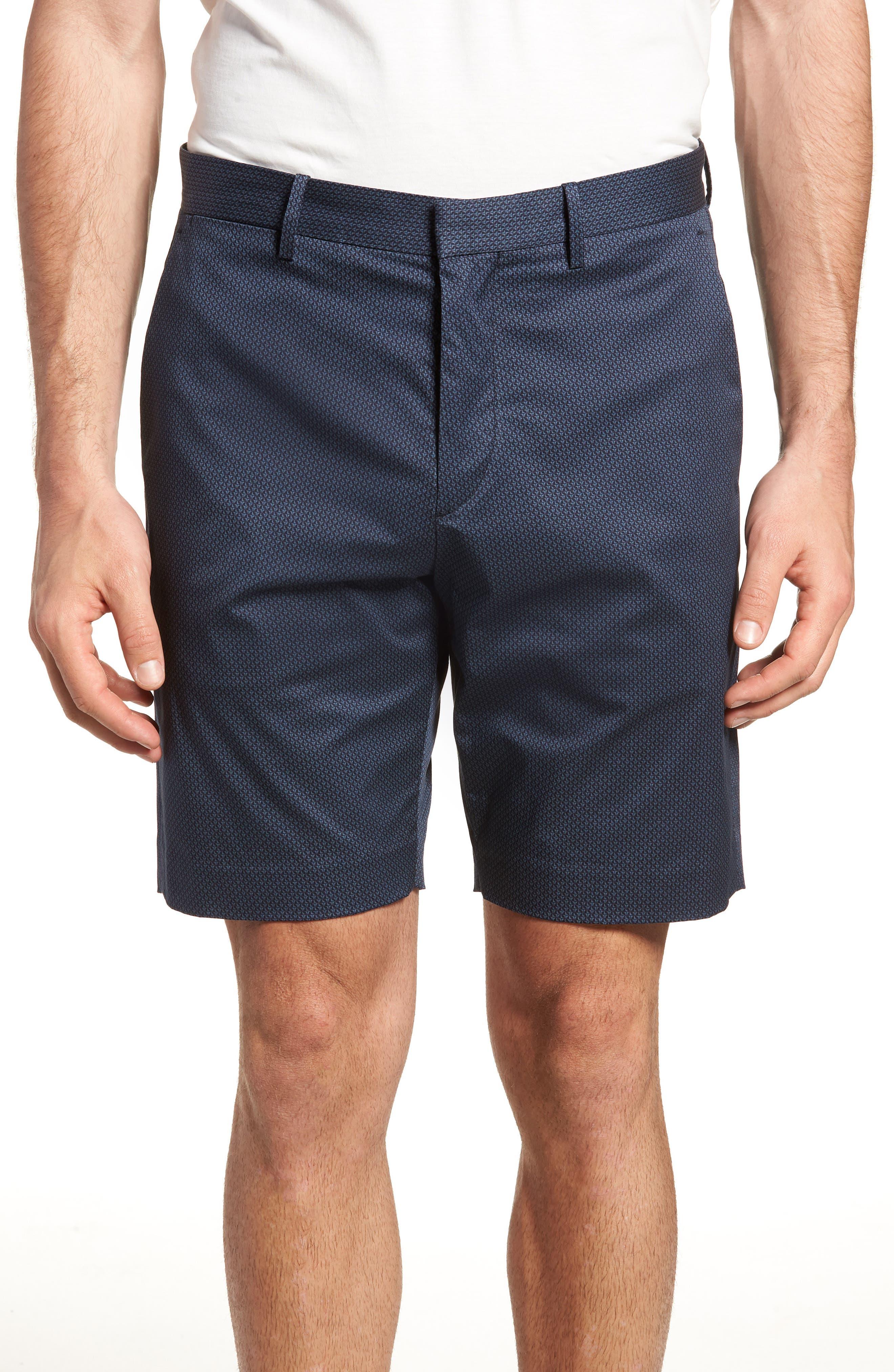 Zaine Stretch Cotton Shorts,                             Main thumbnail 1, color,                             Eclipse Multi