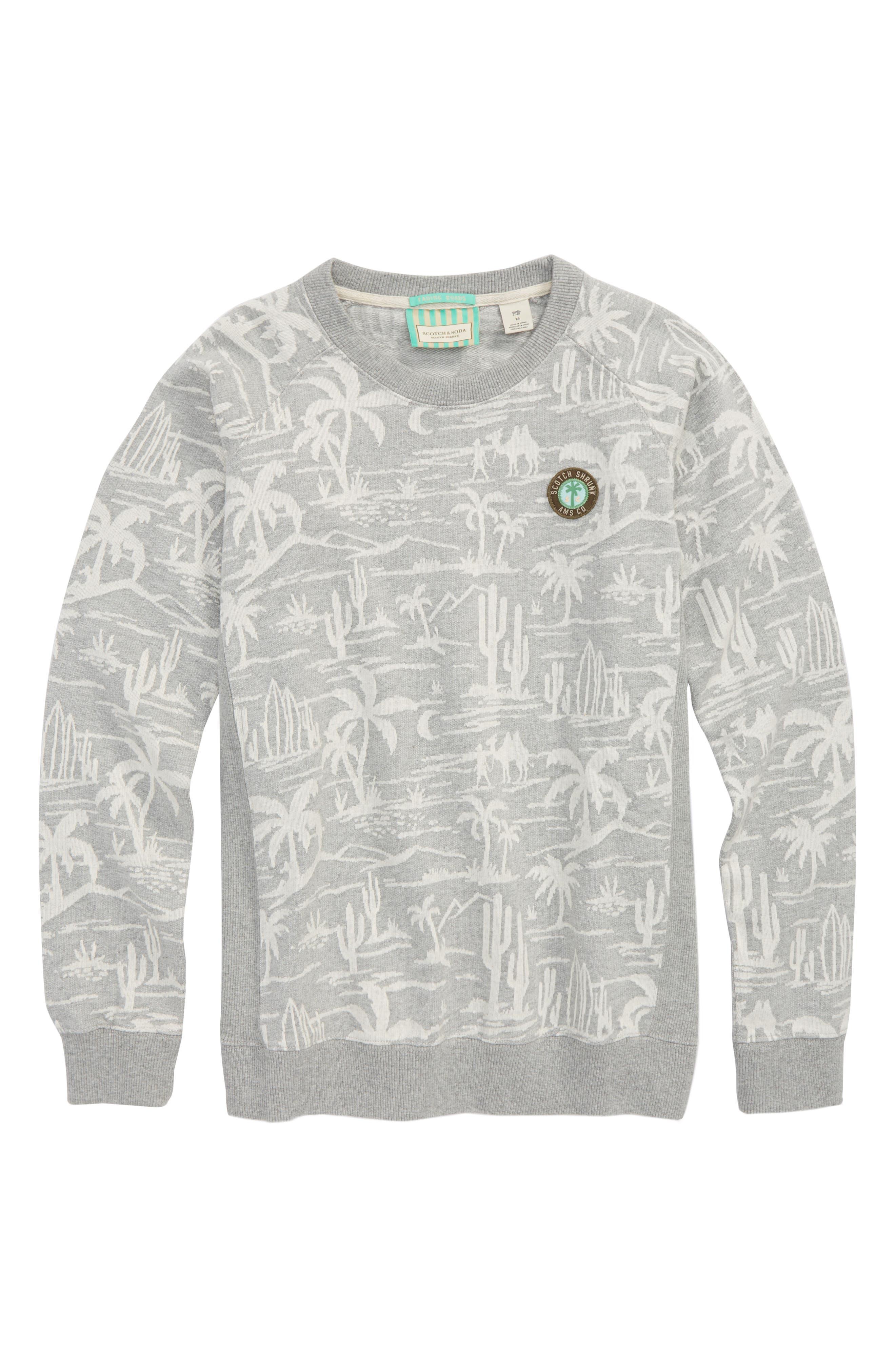 Crewneck Sweatshirt,                         Main,                         color, Grey