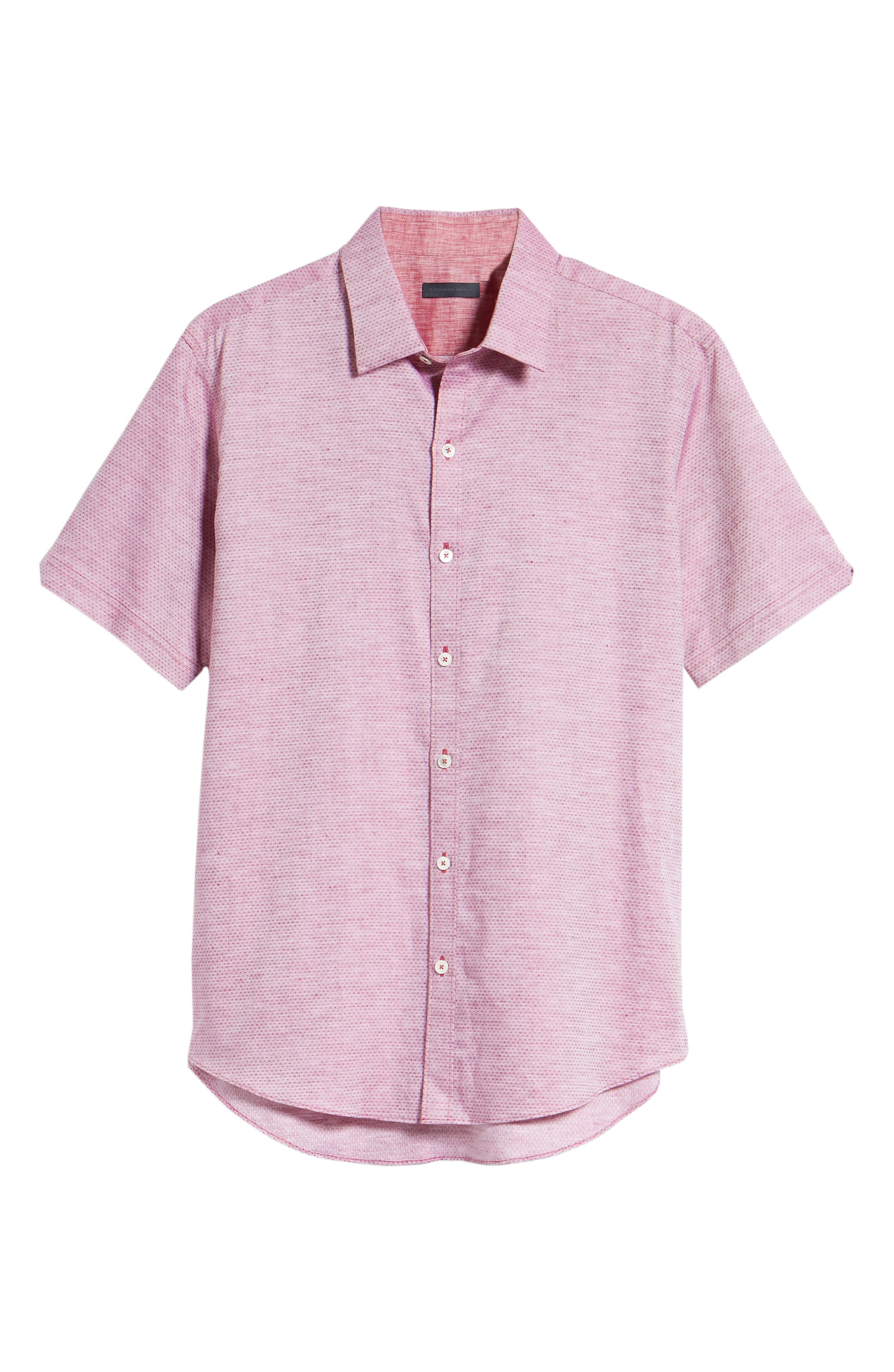 Wilcox Regular Fit Dobby Sport Shirt,                             Alternate thumbnail 6, color,                             Pink