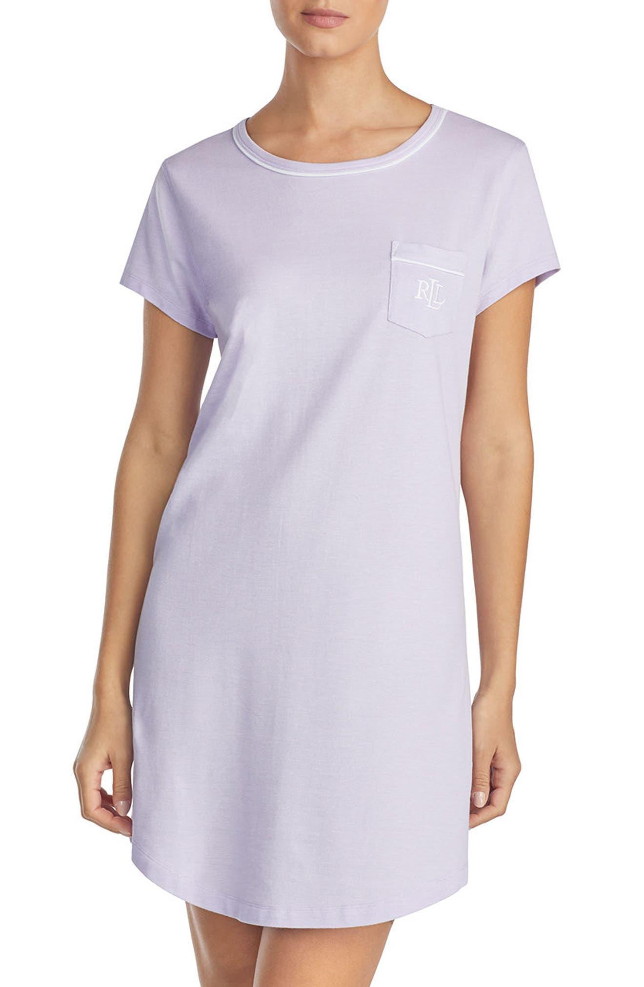 Nightgown,                             Main thumbnail 1, color,                             Lilac
