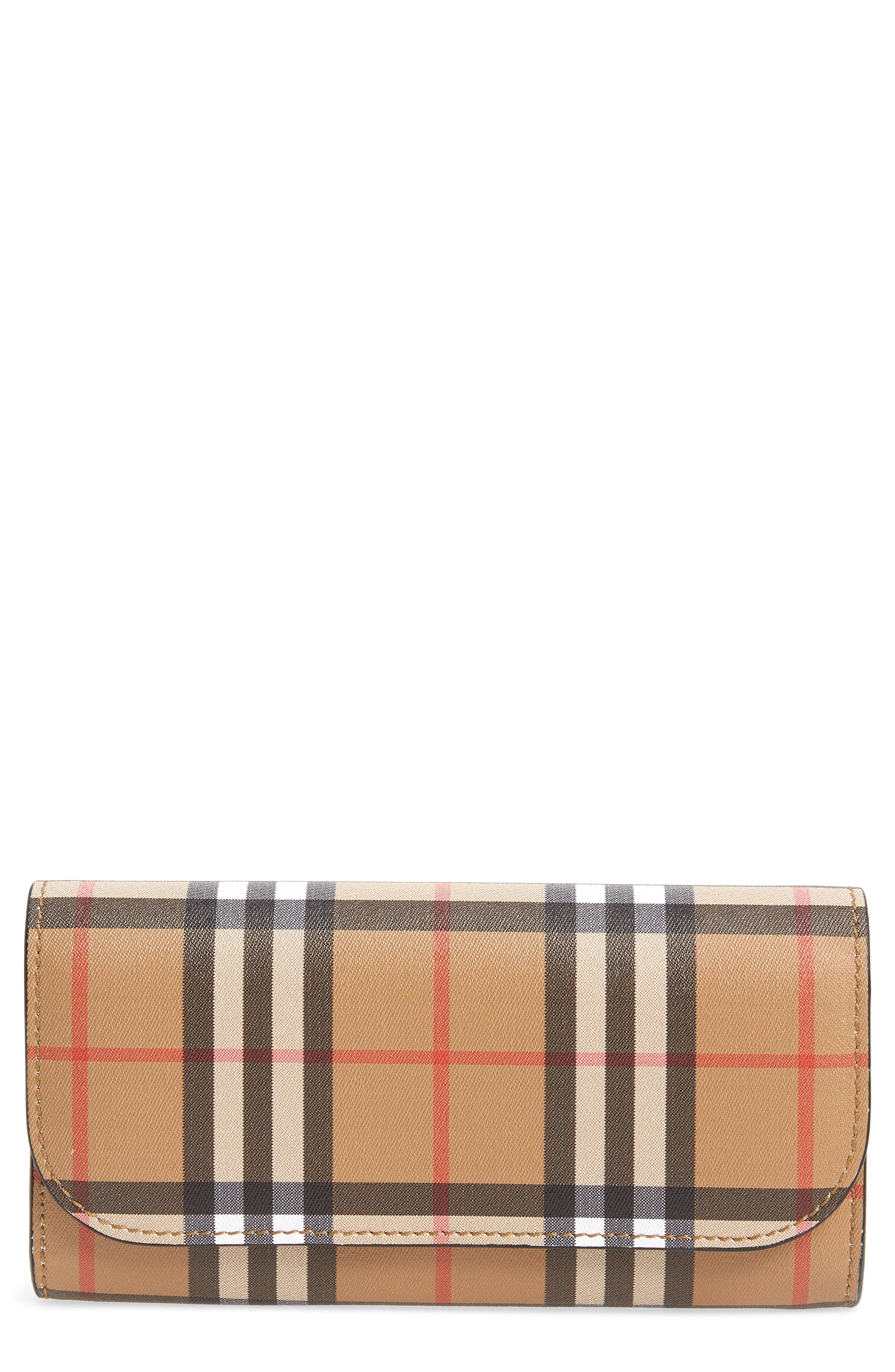 Alternate Image 1 Selected - Burberry Halton Check Continental Wallet