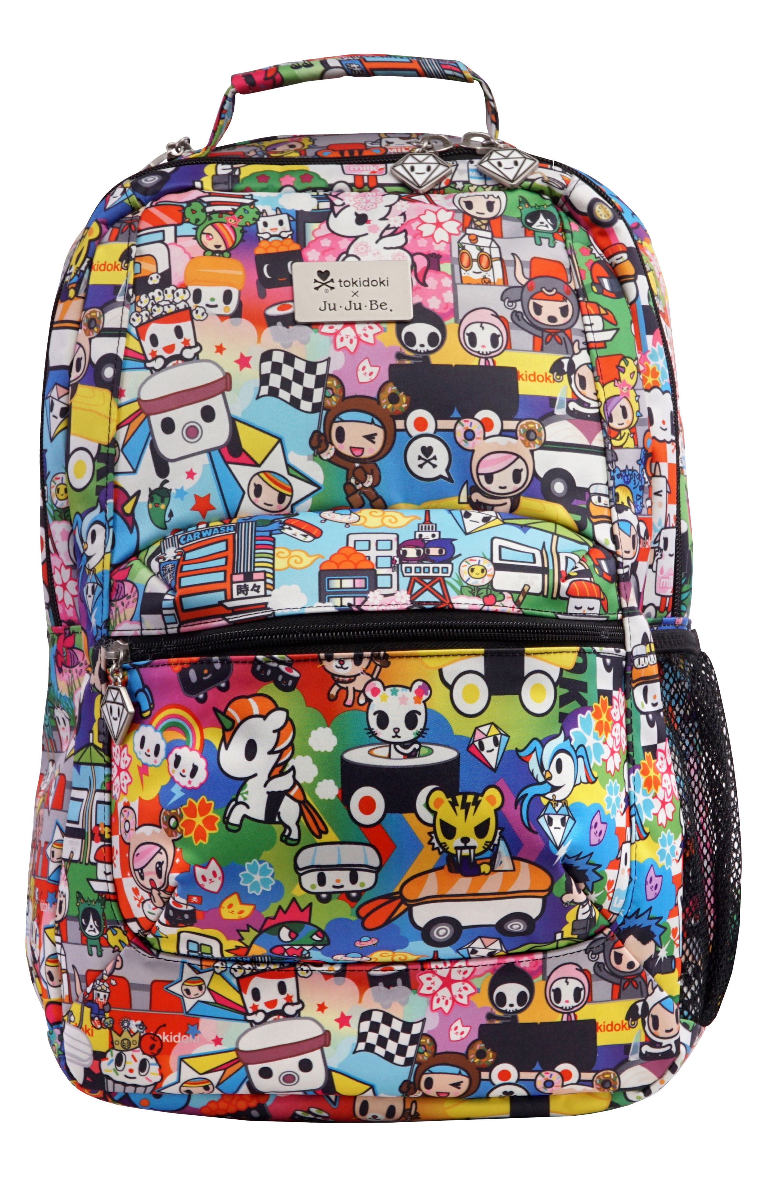 x tokidoki Be Packed Diaper Backpack,                         Main,                         color, Sushi Cars