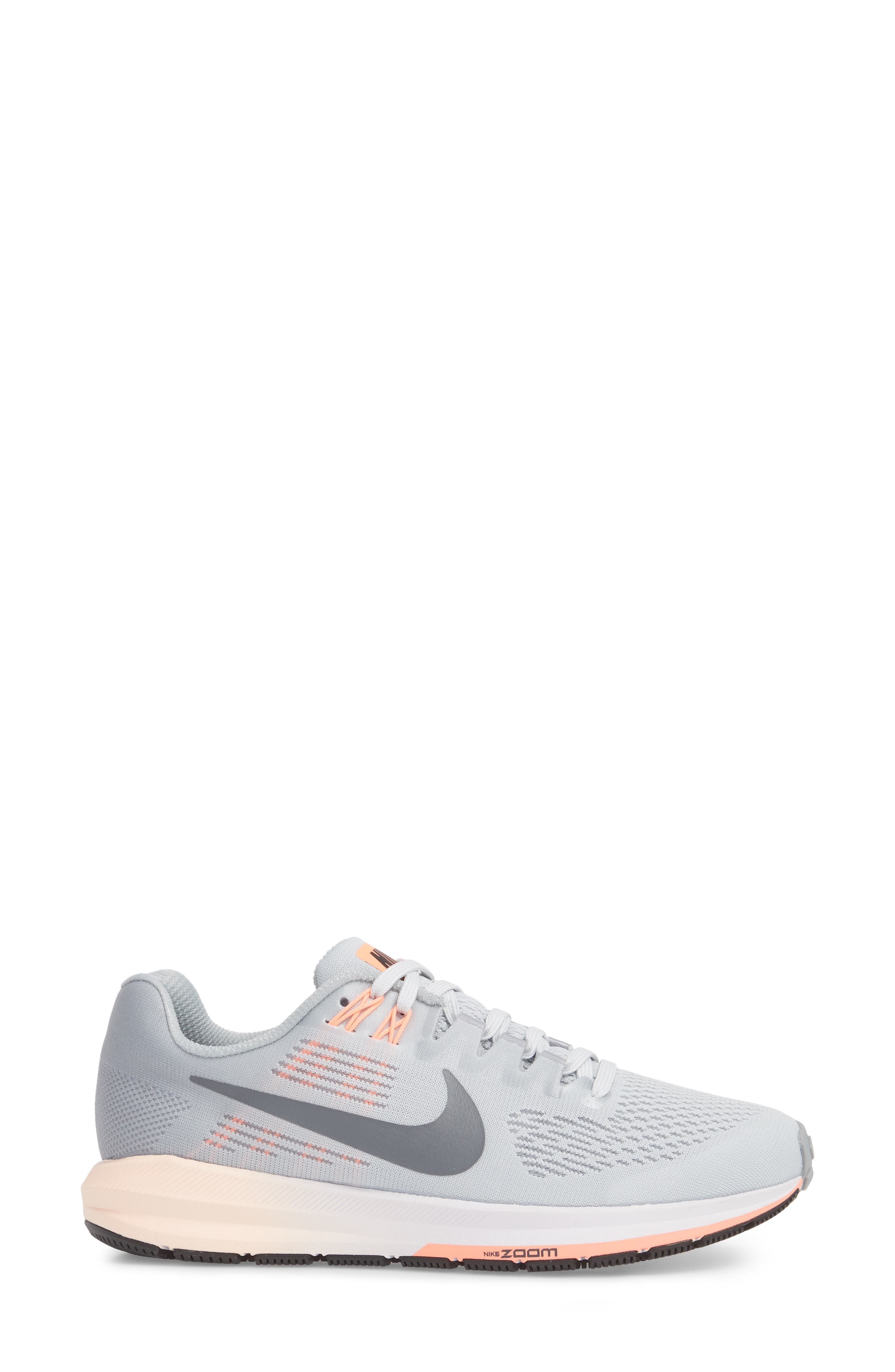 Air Zoom Structure 21 Running Shoe,                             Alternate thumbnail 3, color,                             Wolf Grey/ Dark Grey