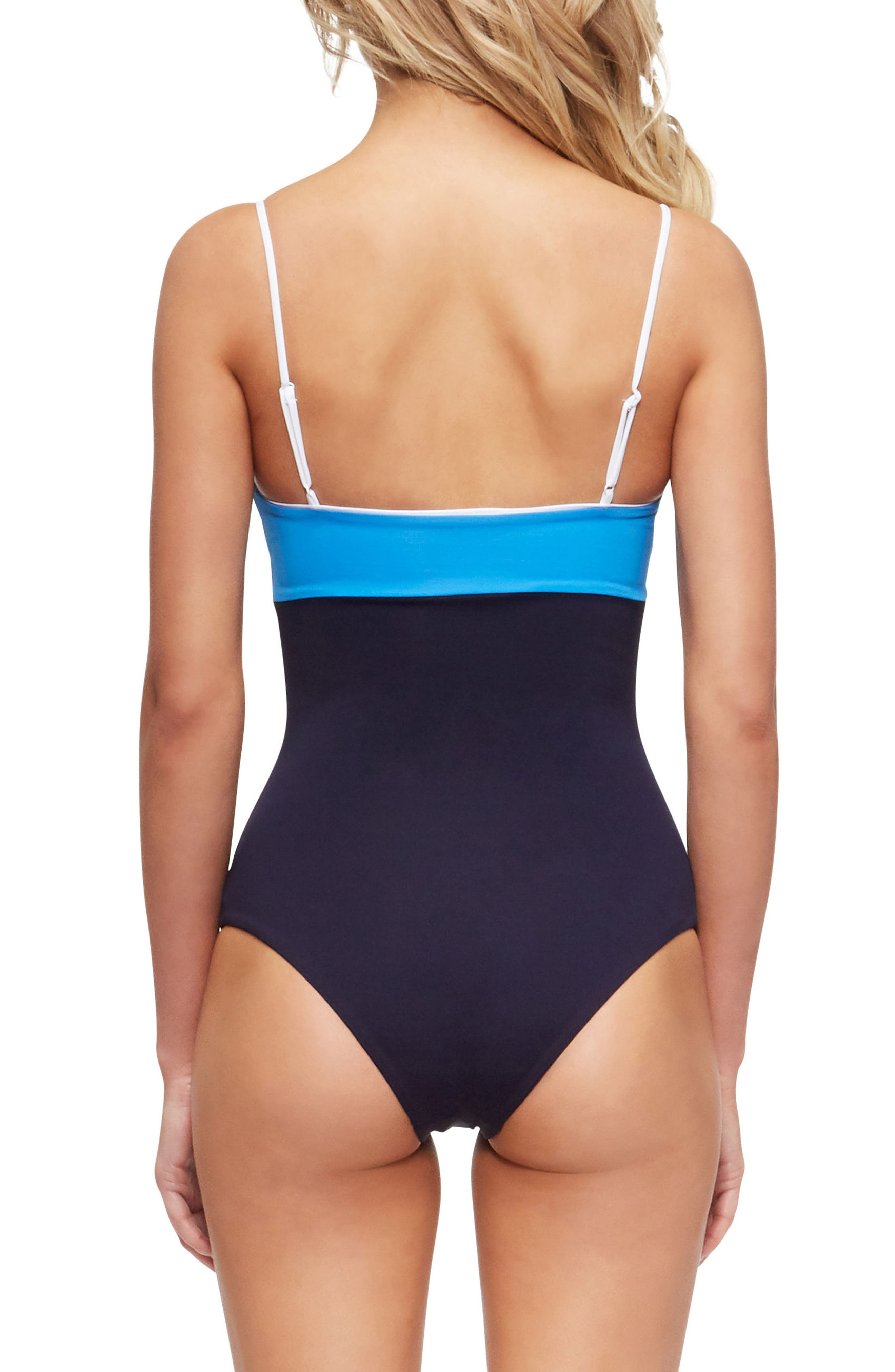 Scarlett One-Piece Swimsuit,                             Alternate thumbnail 2, color,                             Evening Blue/ French Blue