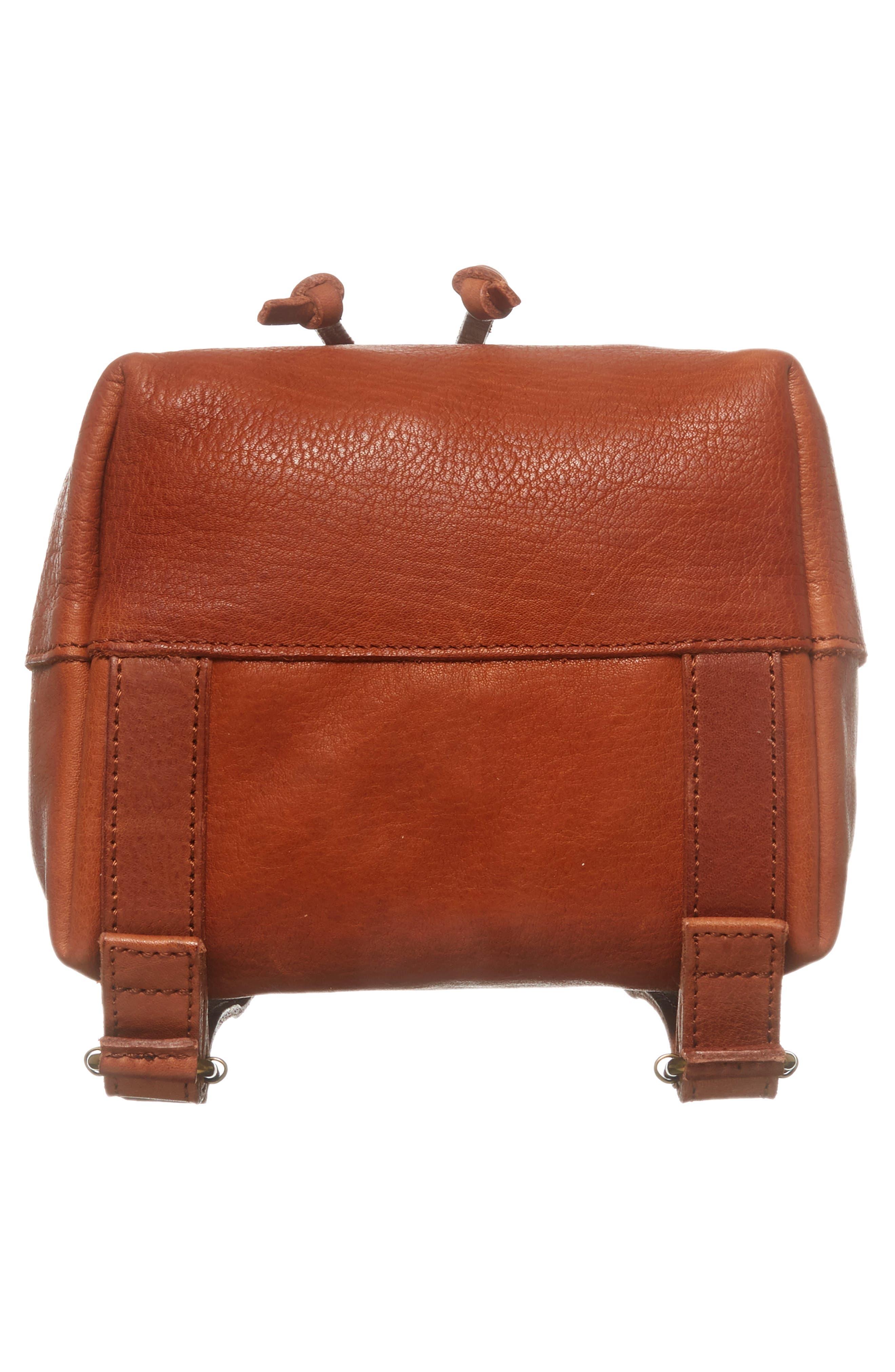 Mini Somerset Leather Backpack,                             Alternate thumbnail 6, color,                             English Saddle