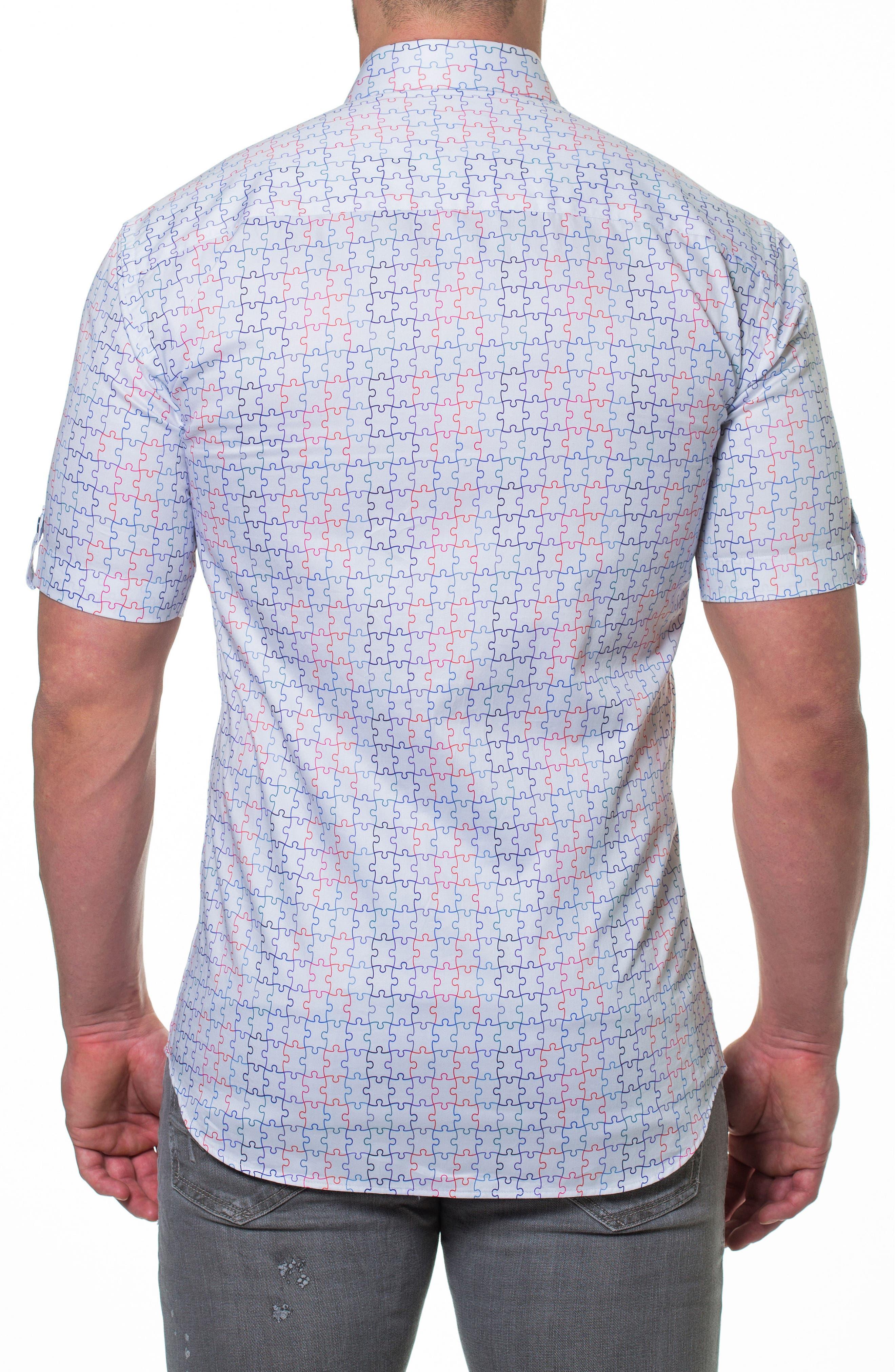 Fresh Jigsaw Slim Fit Sport Shirt,                             Alternate thumbnail 2, color,                             White