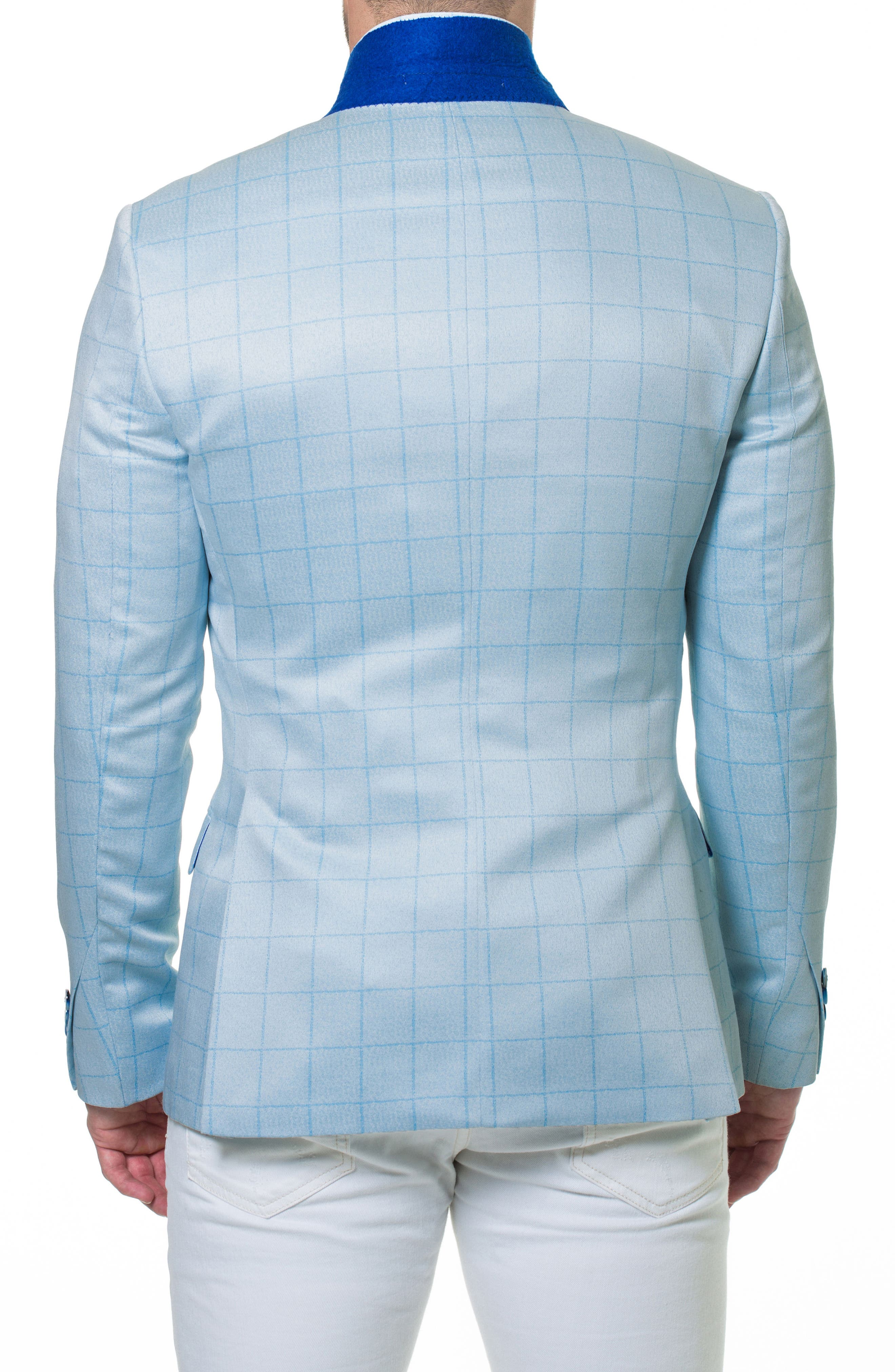 Elegance Check Windowpane Sport Coat,                             Alternate thumbnail 2, color,                             Blue