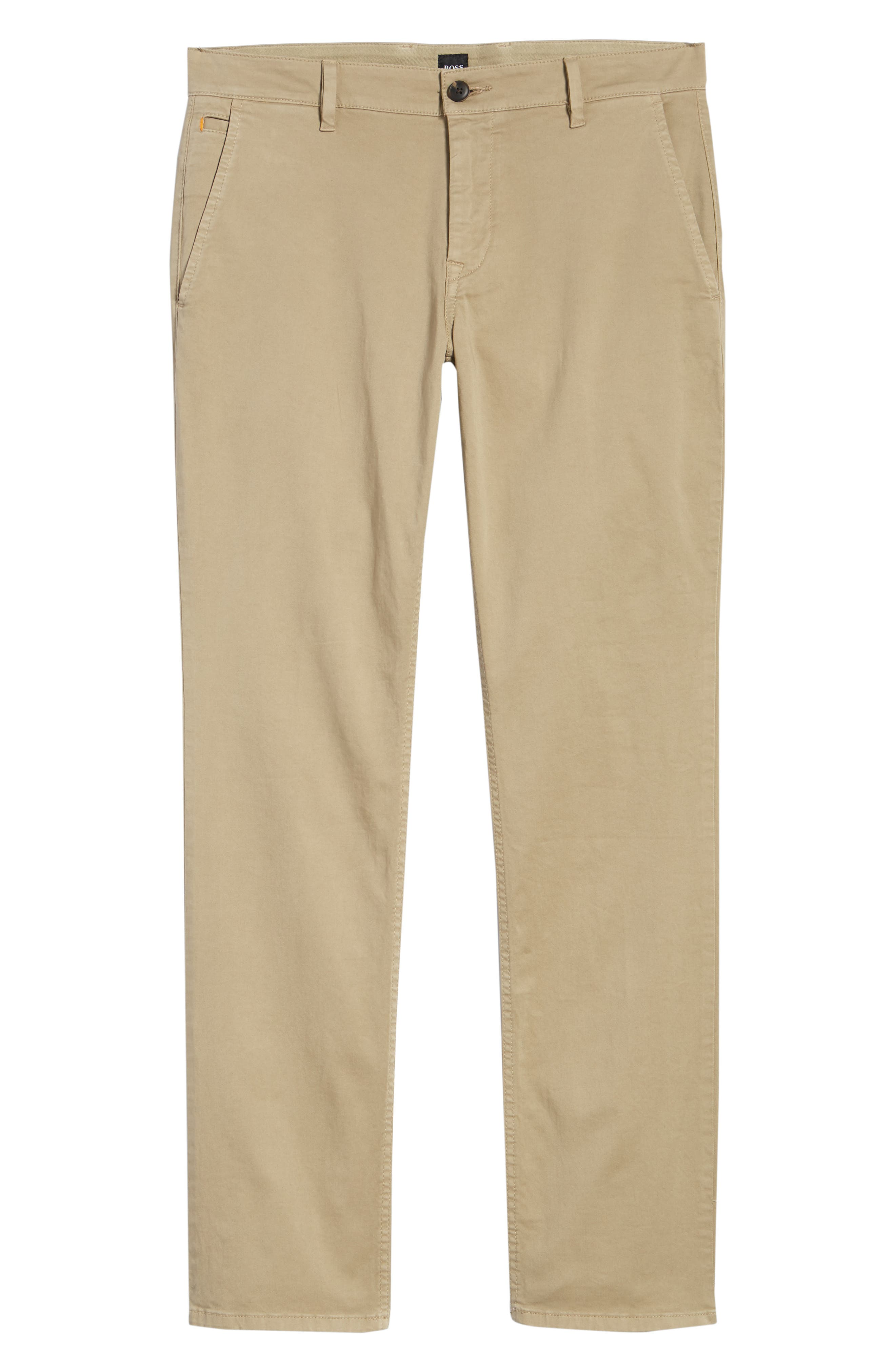 Stretch Chino Pants,                             Alternate thumbnail 6, color,                             Brown