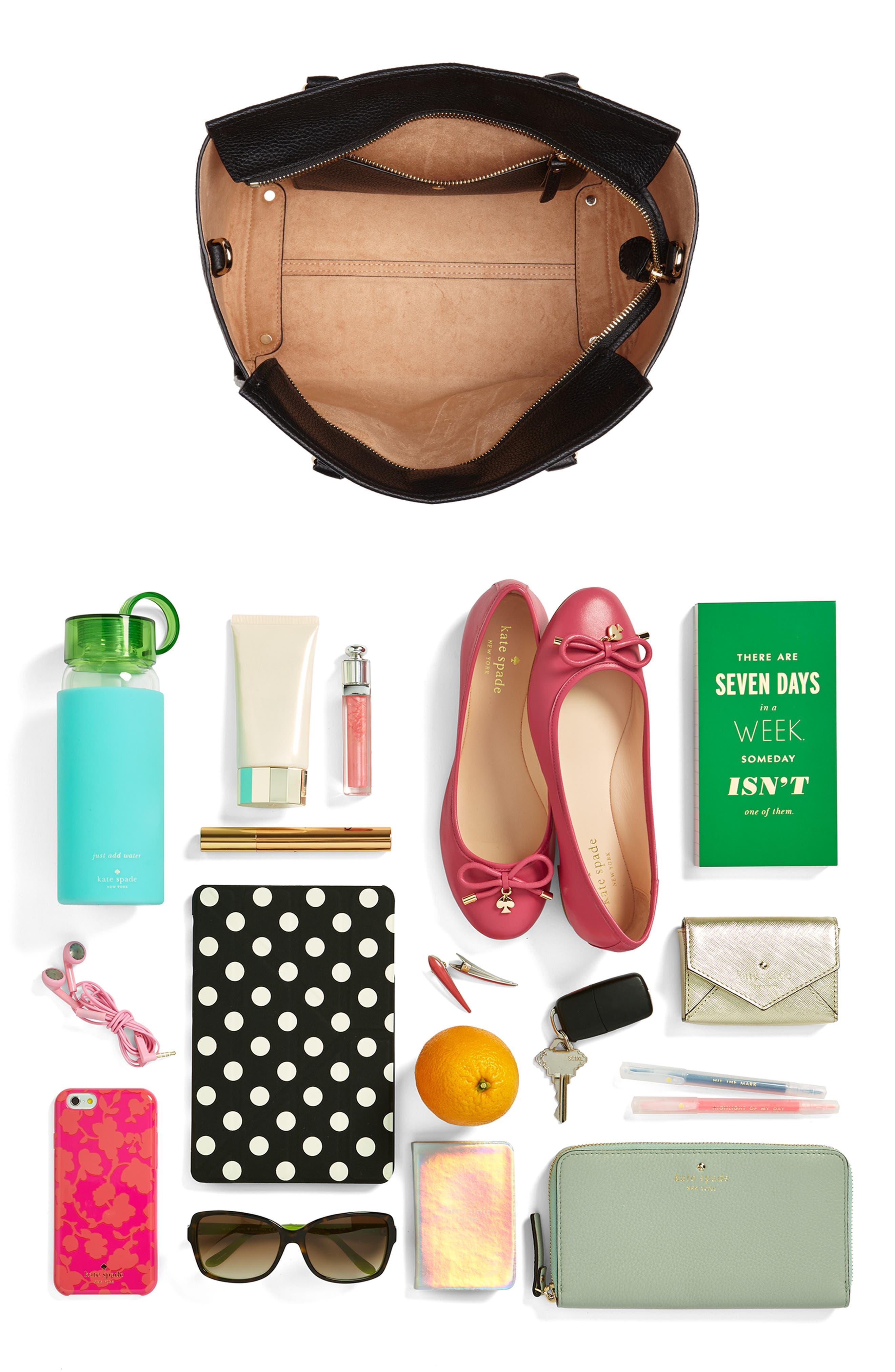 trent hill - hayden leather satchel,                             Alternate thumbnail 7, color,