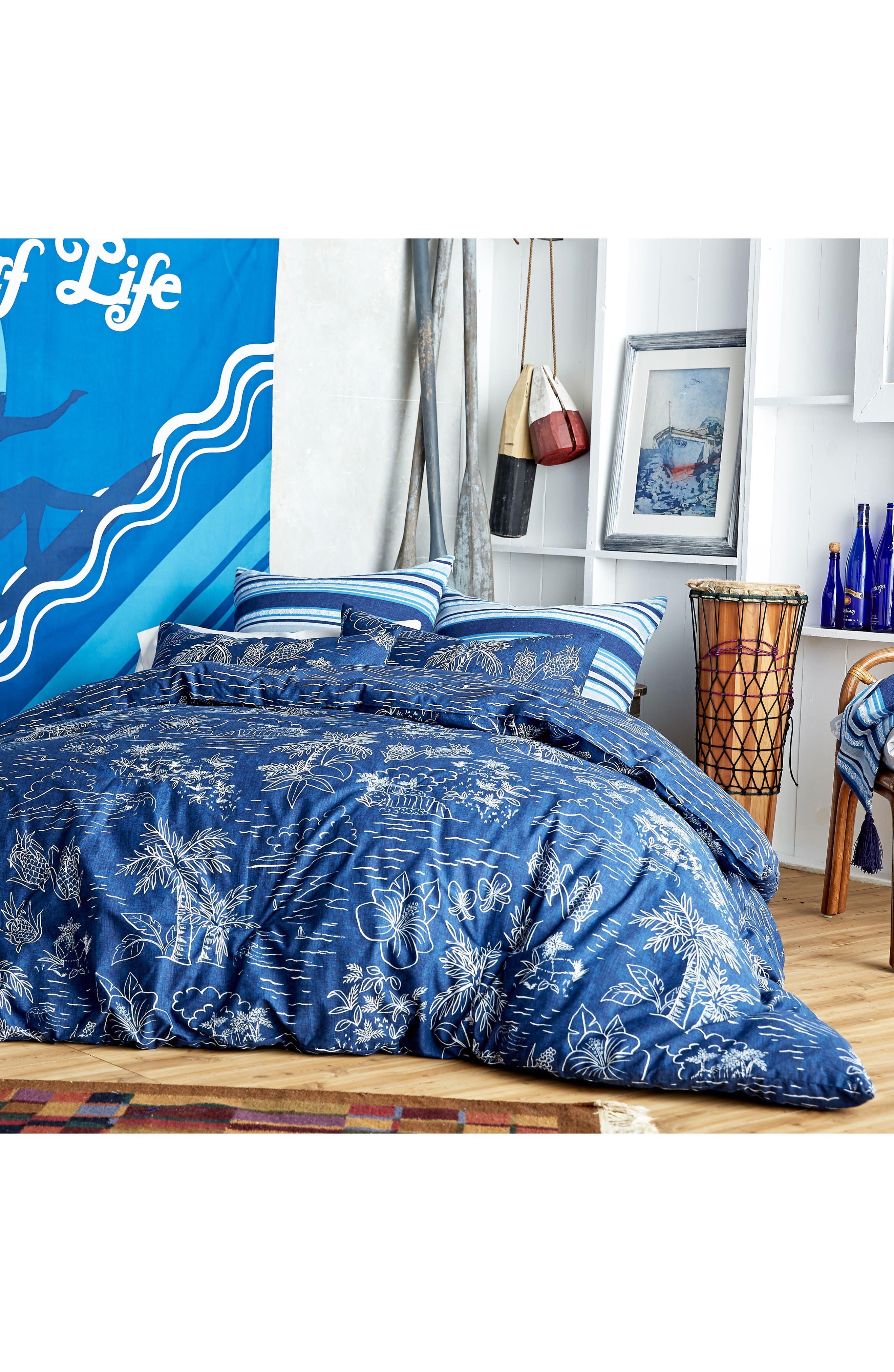 Pismo Beach Duvet Cover & Sham Set,                         Main,                         color, Navy
