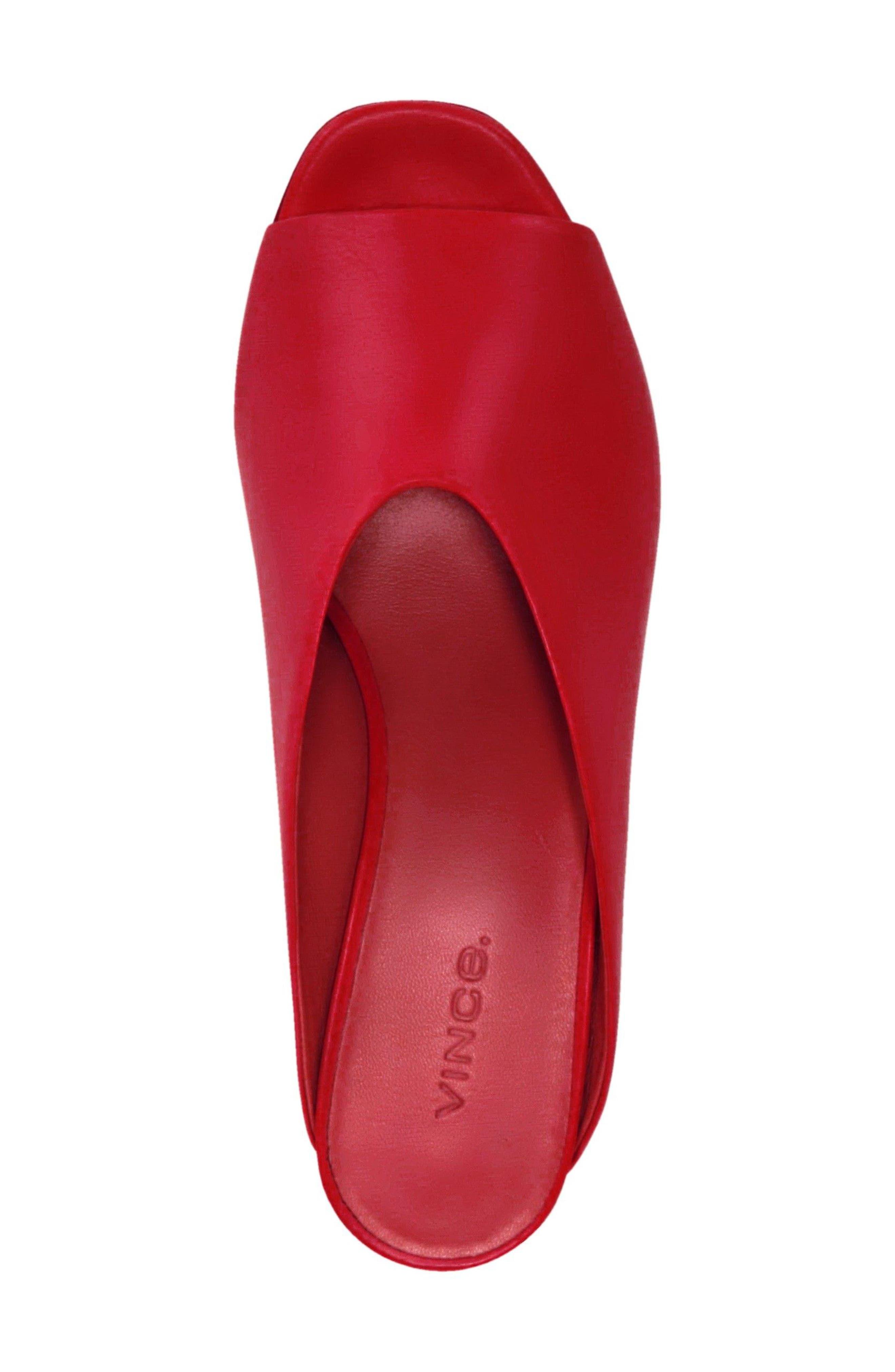Cachet Sandal,                             Alternate thumbnail 4, color,                             Red