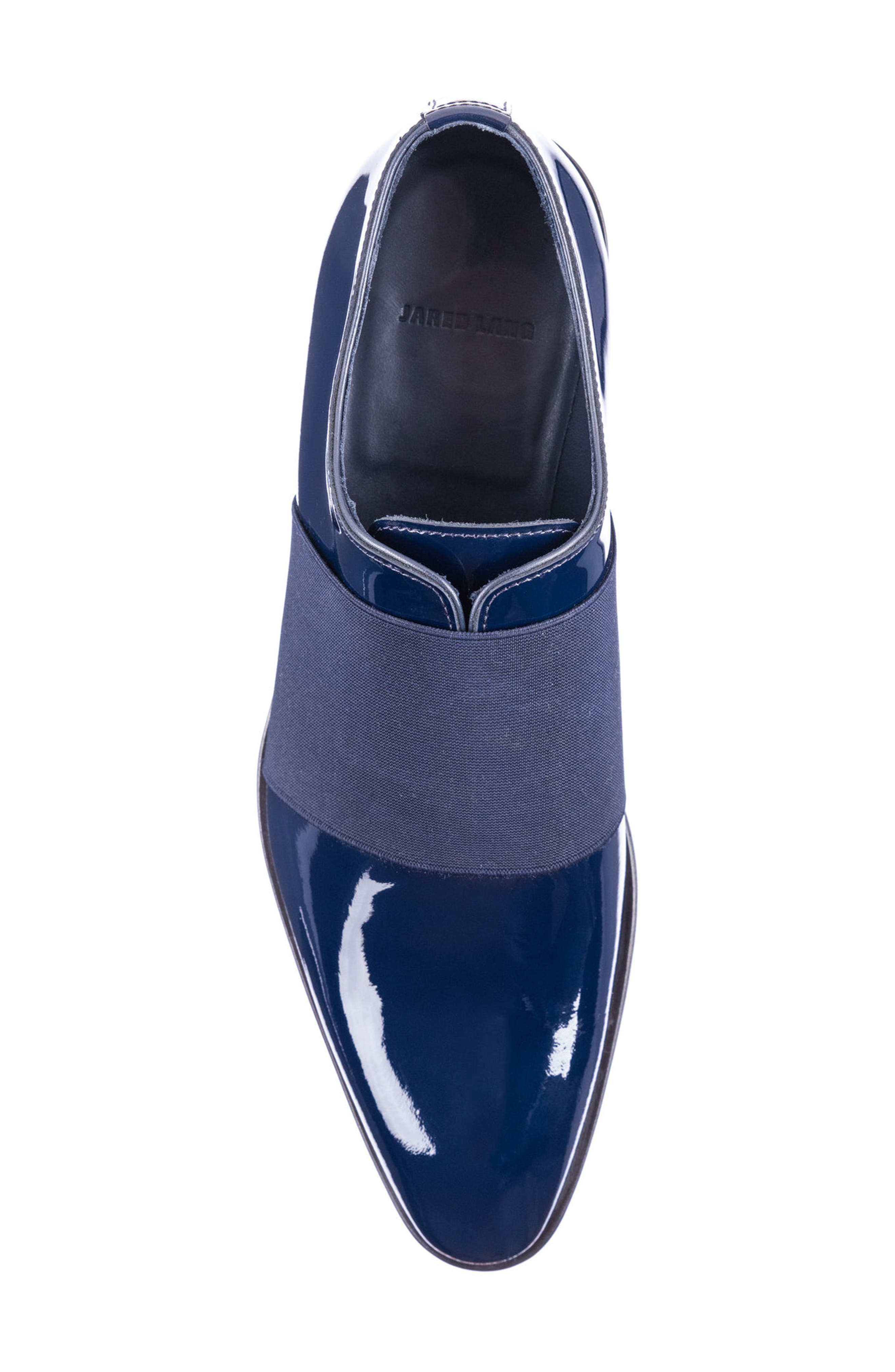 Vincenzo Whole Cut Slip-On,                             Alternate thumbnail 5, color,                             Navy Leather