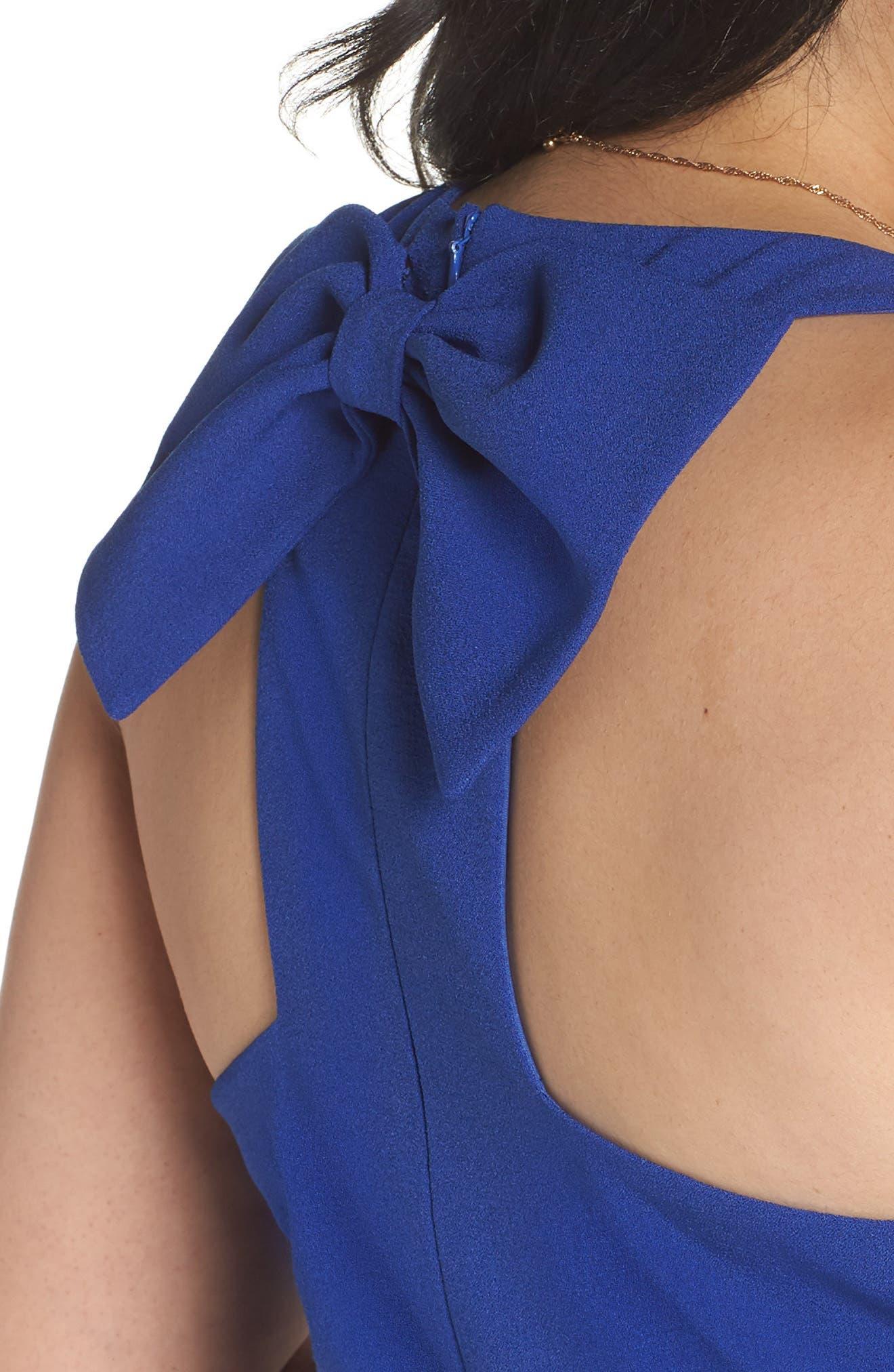 Bow Back Jumpsuit,                             Alternate thumbnail 4, color,                             Blue Mazarine