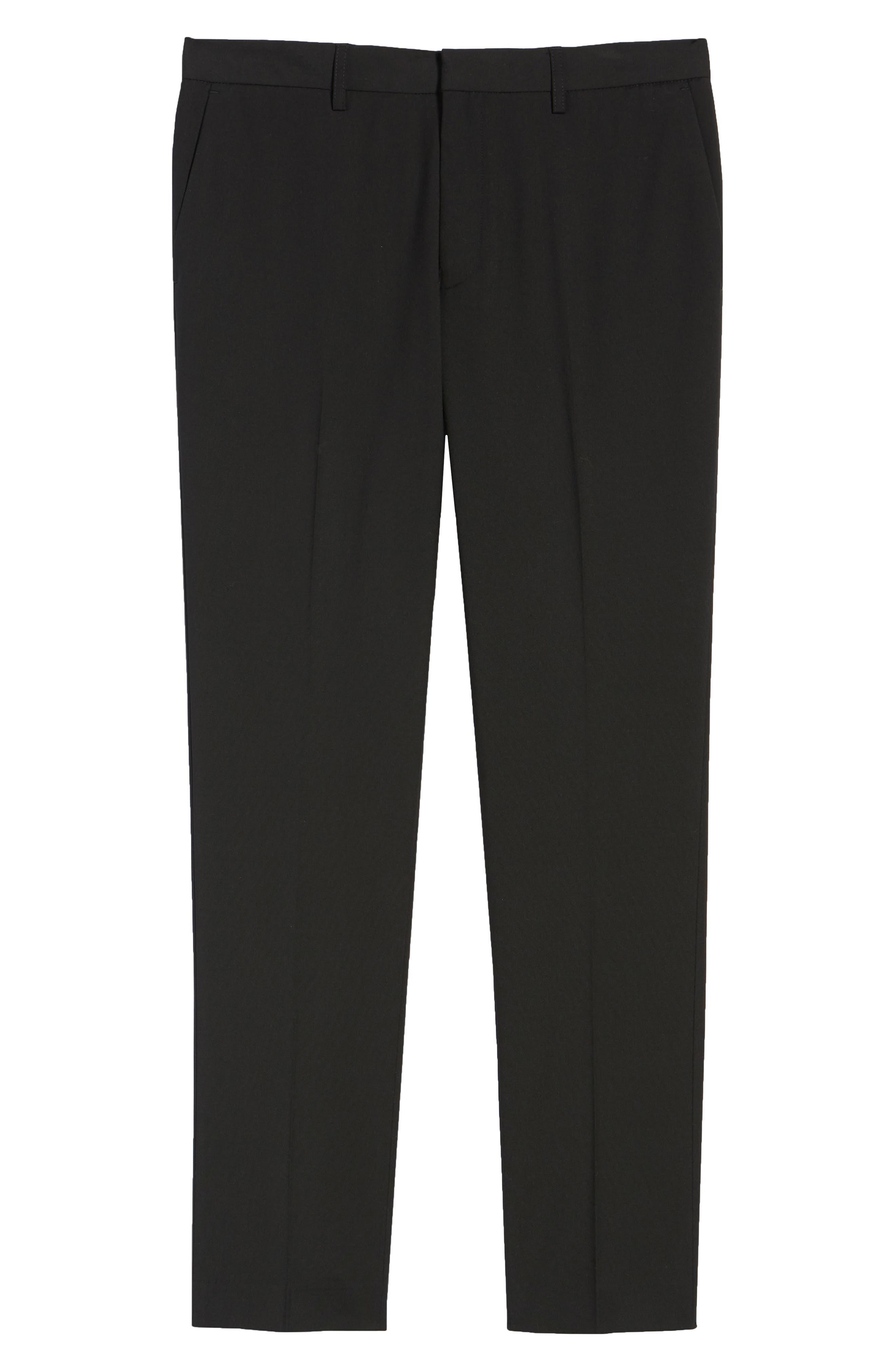 Skinny Fit Suit Pants,                             Alternate thumbnail 6, color,                             Black