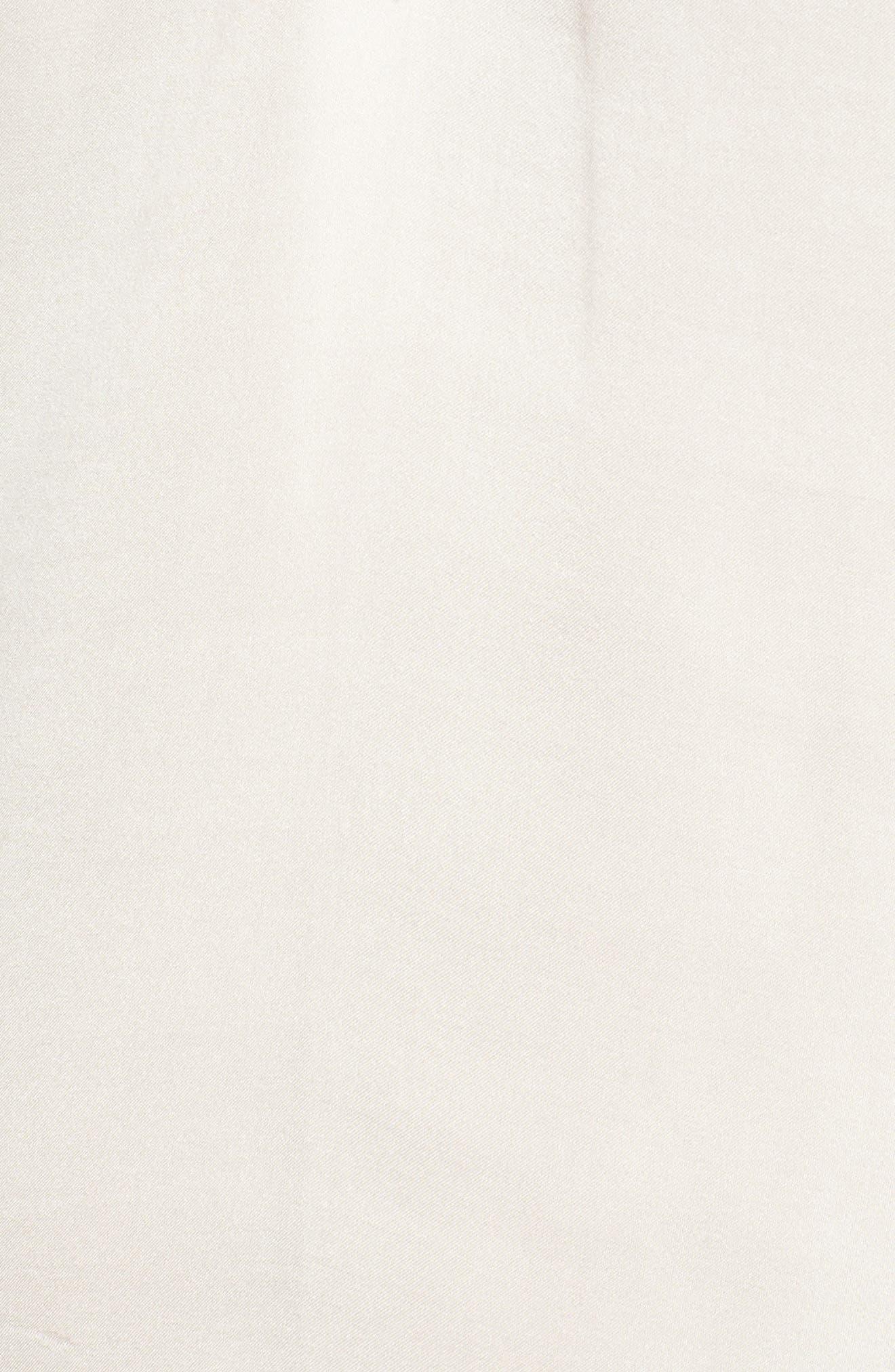 Lace Trim Satin Camisole,                             Alternate thumbnail 6, color,                             Ivory