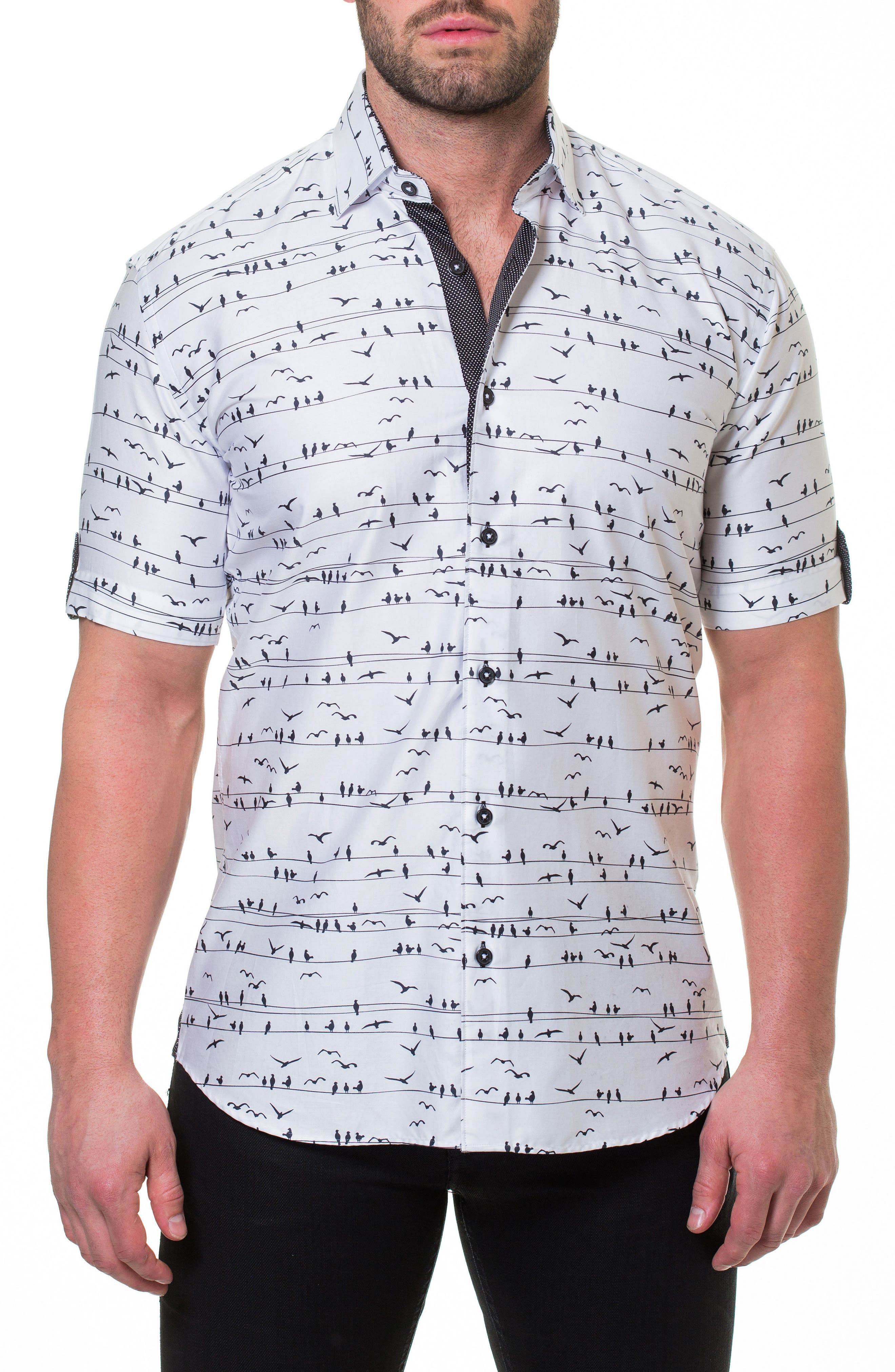 Fresh Wire Slim Fit Sport Shirt,                             Main thumbnail 1, color,                             White